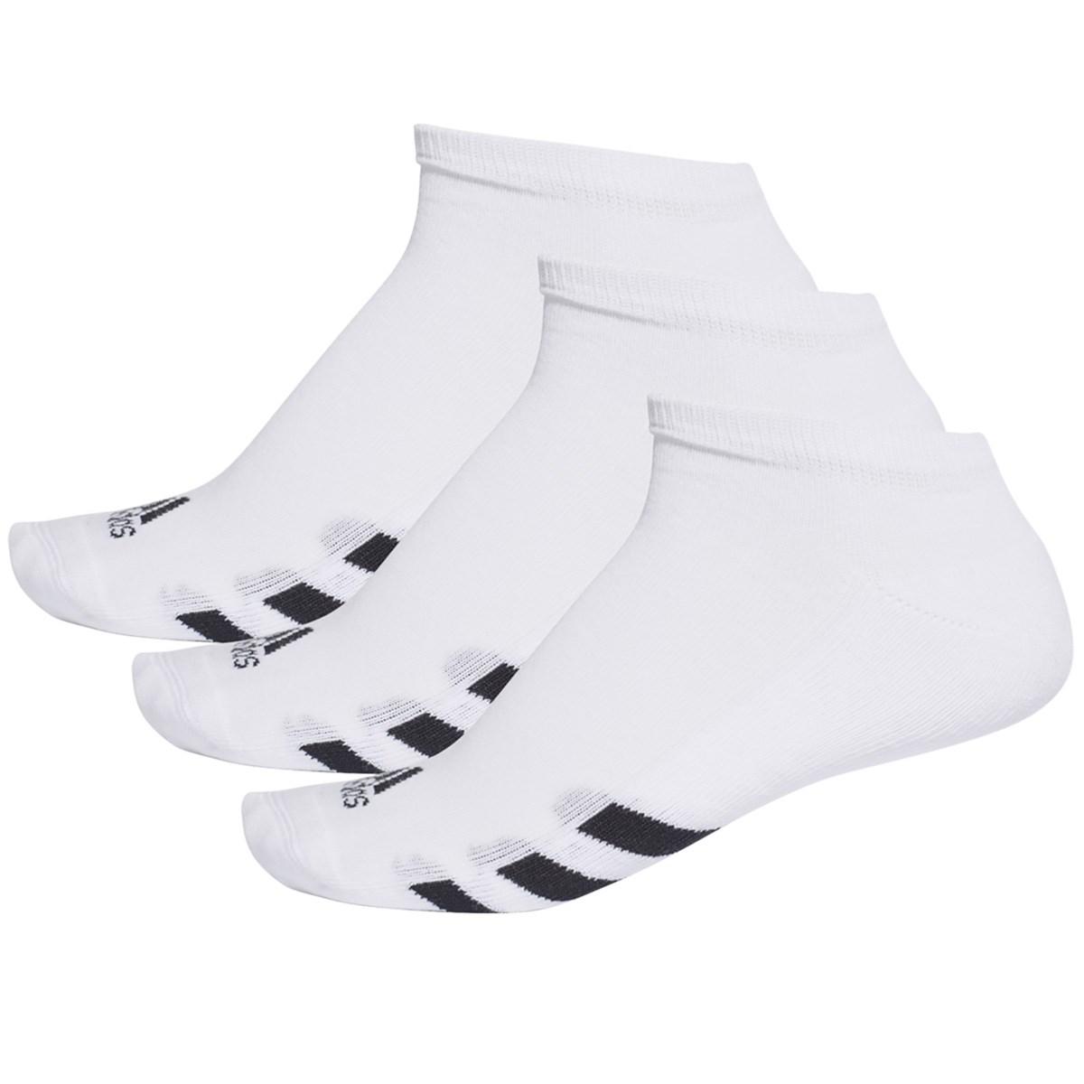 アディダス Adidas ゴルフローカットソックス 3足セット フリー ホワイト