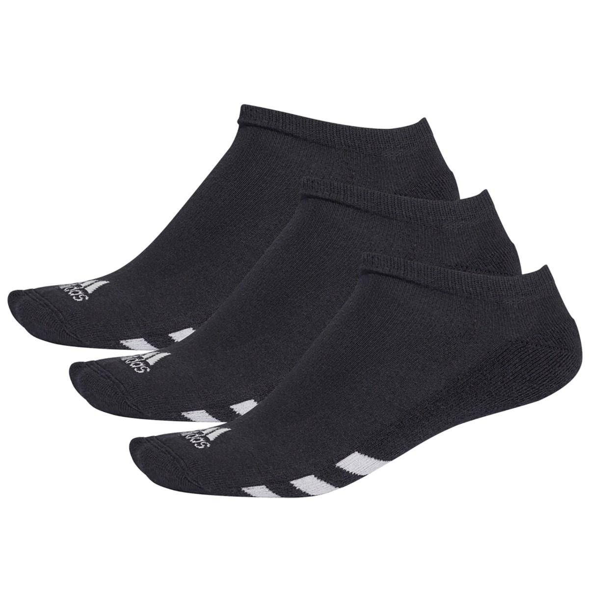 アディダス Adidas ゴルフローカットソックス 3足セット フリー ブラック