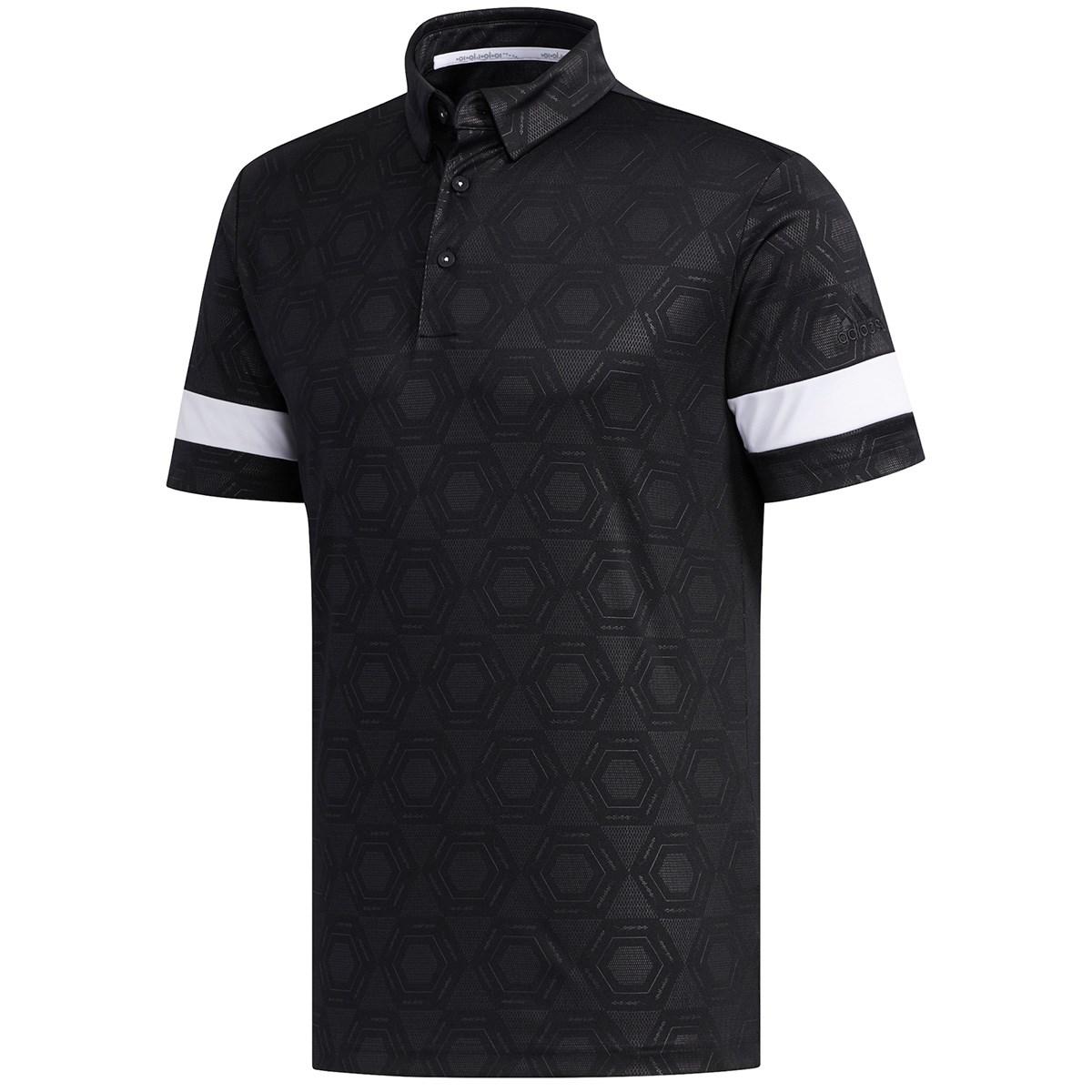 アディダス(adidas) ヘキサゴンエンボスプリント 半袖ポロシャツ