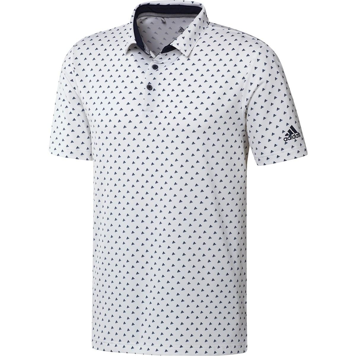アディダス Adidas ULTIMATE365 BOSモノグラム 半袖ポロシャツ M ホワイト/カレッジネイビー