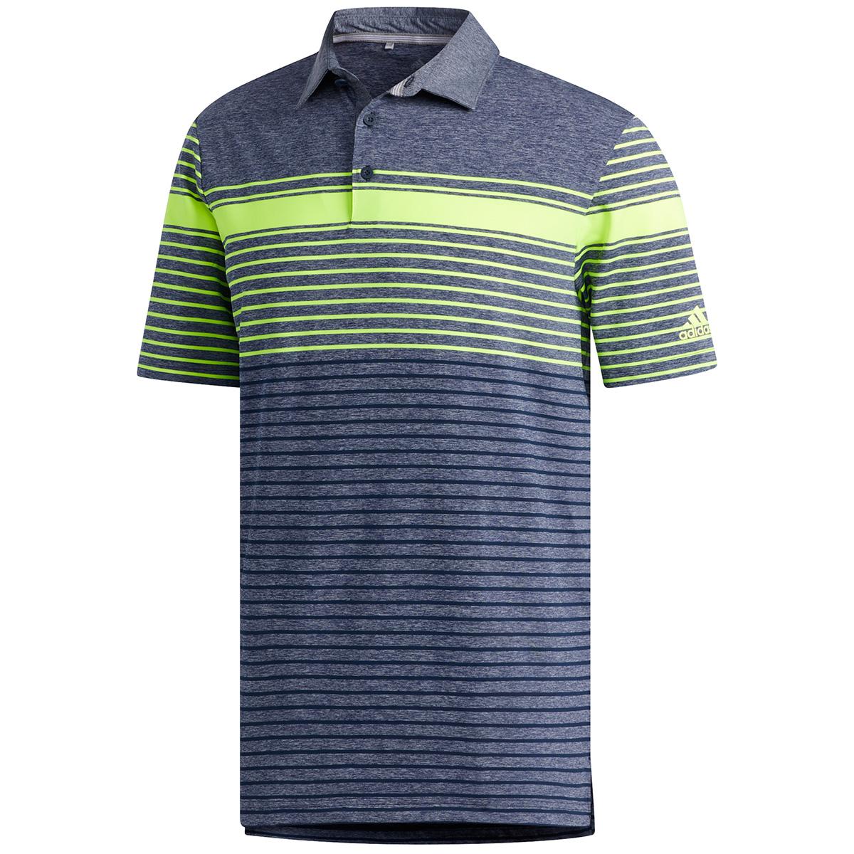 ULTIMATE365 マルチストライプ 半袖ポロシャツ