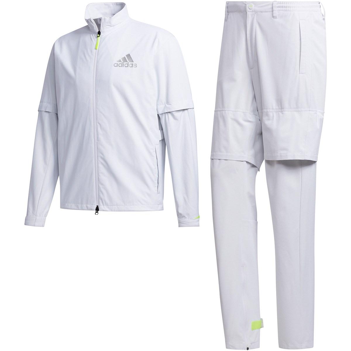 アディダス Adidas ハイストレッチ レインウェア上下セット S ホワイト