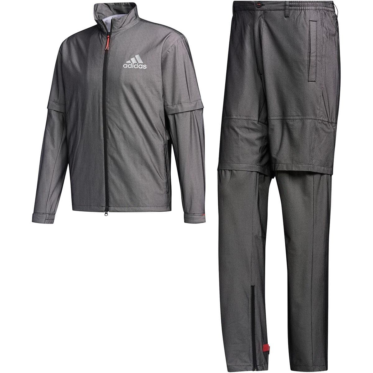 アディダス Adidas ハイストレッチ レインウェア上下セット S ブラック