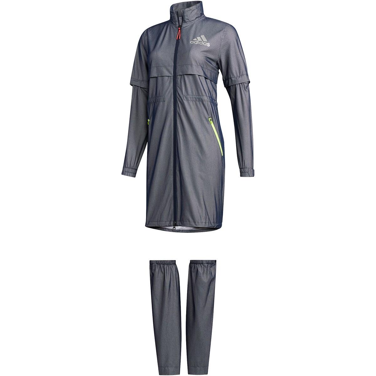 アディダス Adidas レッグカバー付き ハイストレッチ レインワンピース OT カレッジネイビー レディス
