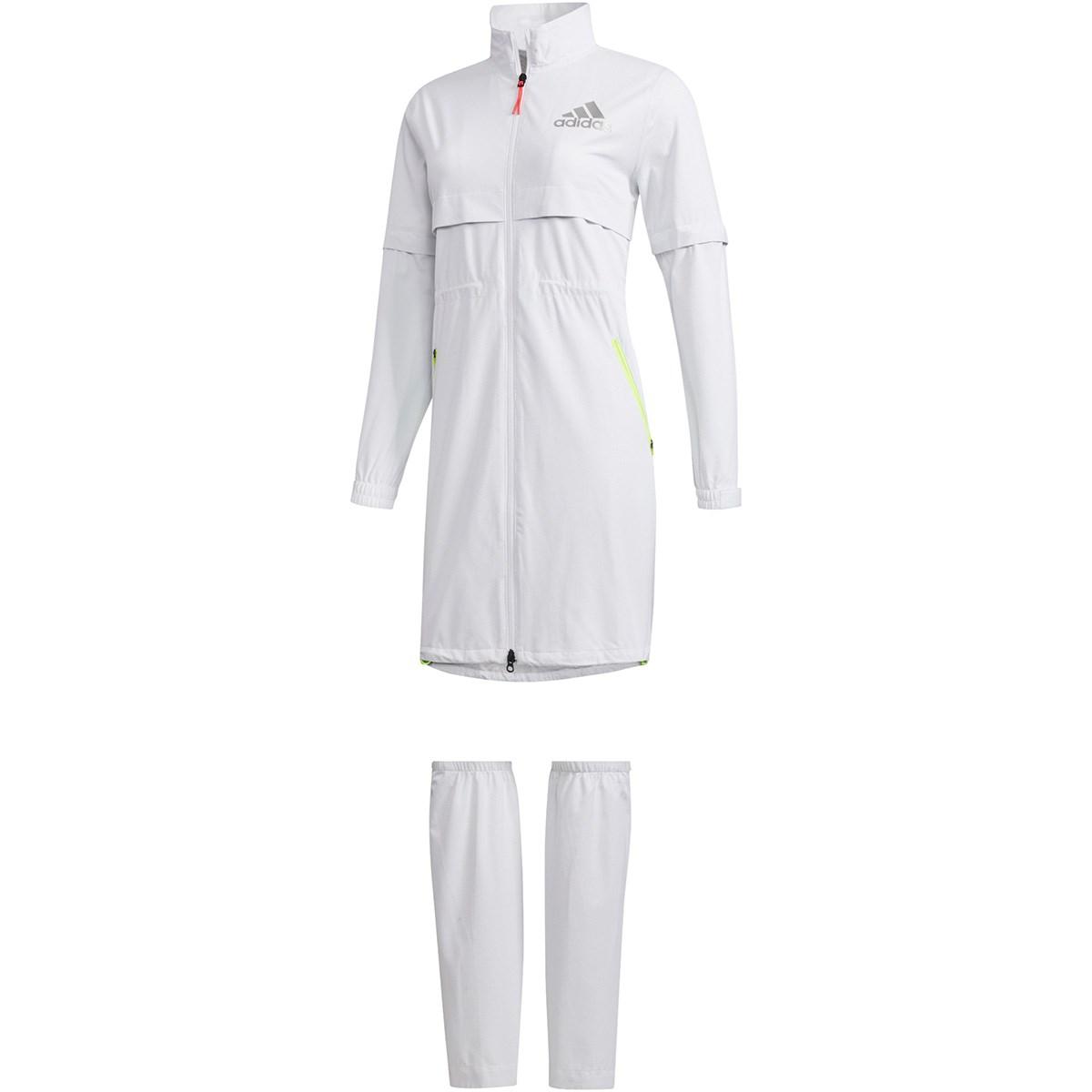 アディダス Adidas レッグカバー付き ハイストレッチ レインワンピース S ホワイト レディス