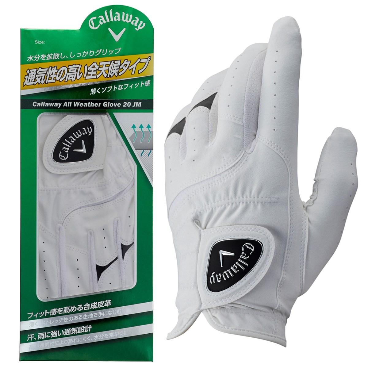 キャロウェイゴルフ Callaway Golf ALL WEATHER JM グローブ 21cm 左手着用(右利き用) ホワイト