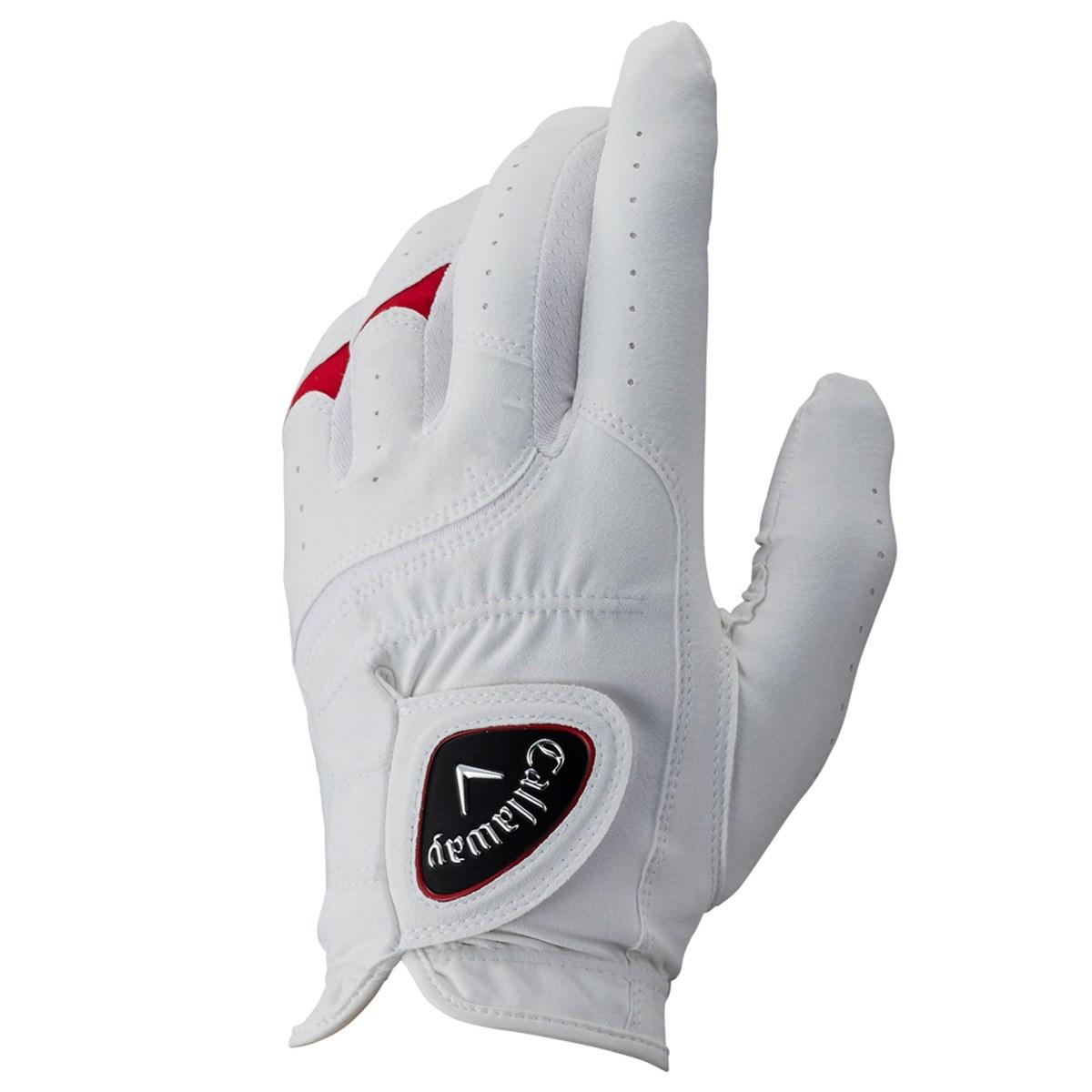 キャロウェイゴルフ Callaway Golf ALL WEATHER JM グローブ 21cm 左手着用(右利き用) ホワイト/レッド