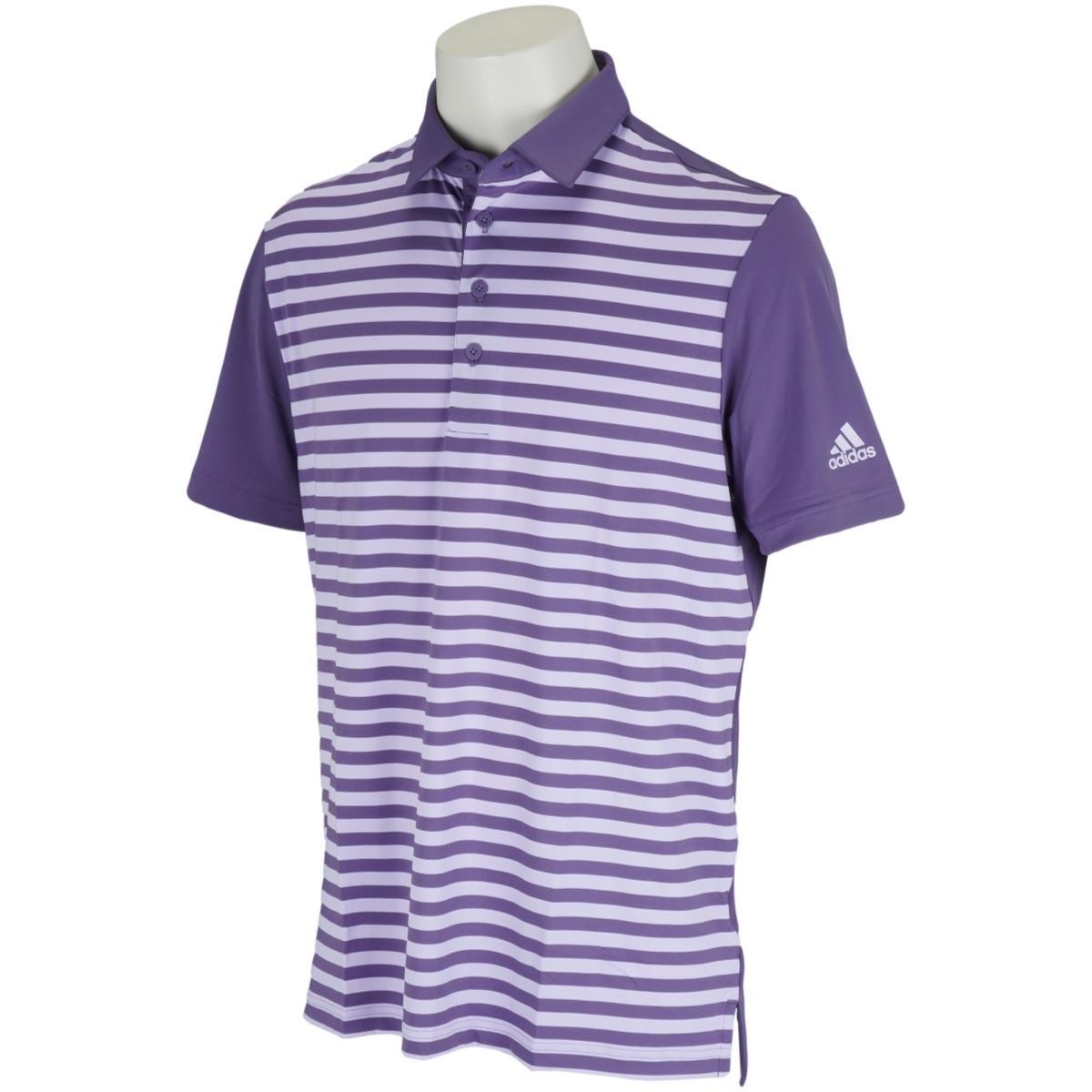 ULTIMATE365 ストライプ 半袖ポロシャツ