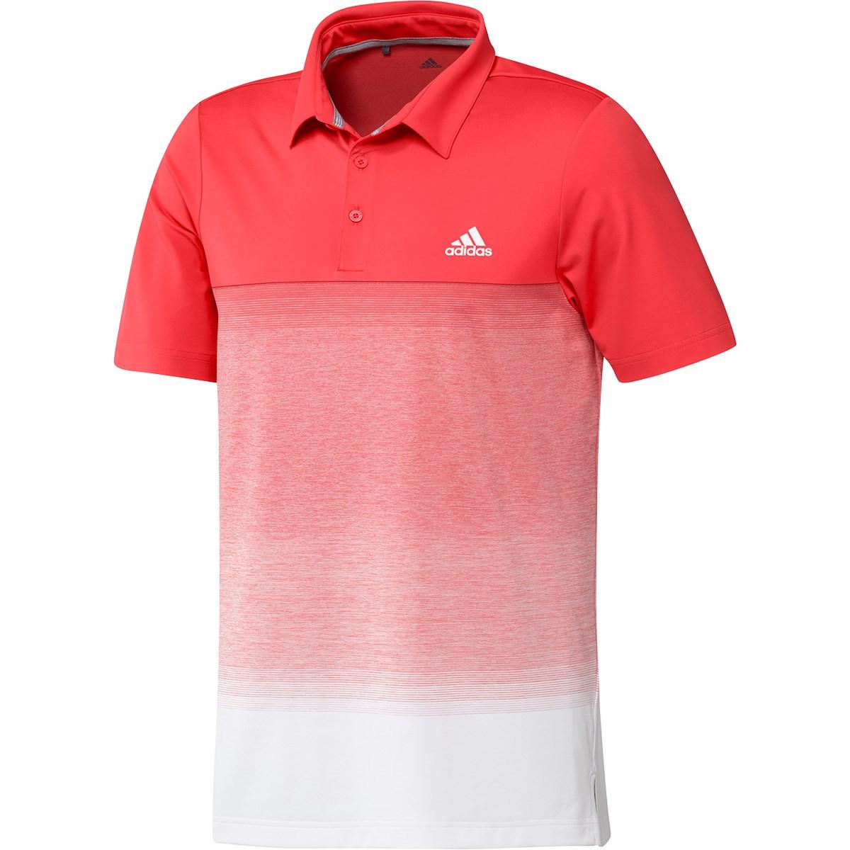 アディダス Adidas ULTIMATE365 メランジプリント 半袖ポロシャツ S リアルコーラル/ホワイト