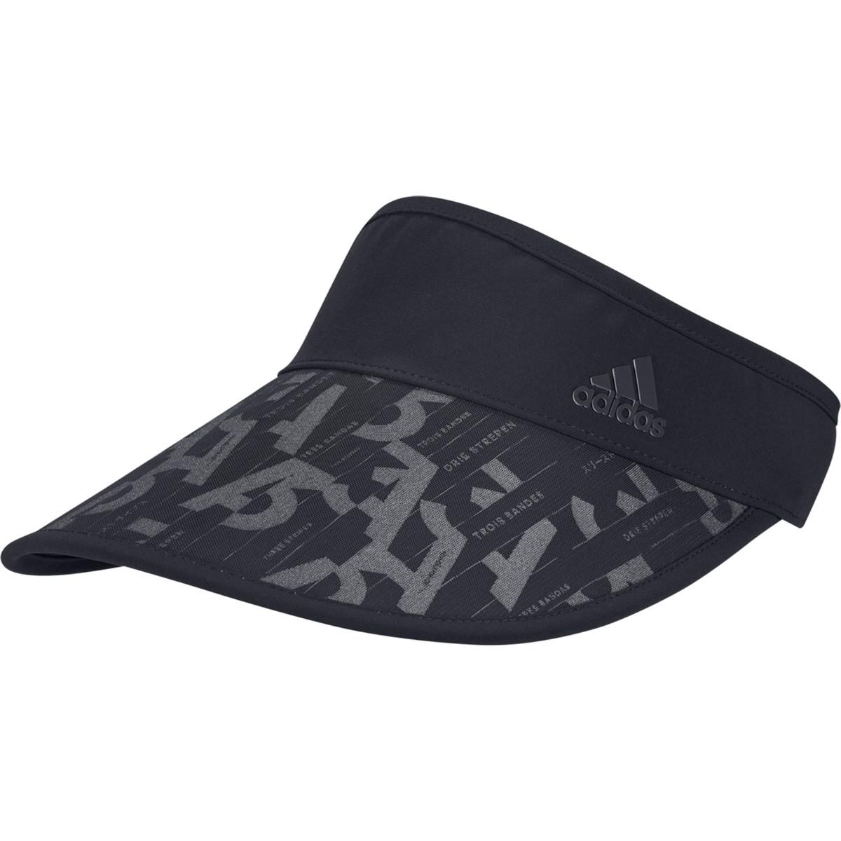 アディダス Adidas コンパクト UVサンバイザー OSFW ブラック レディス