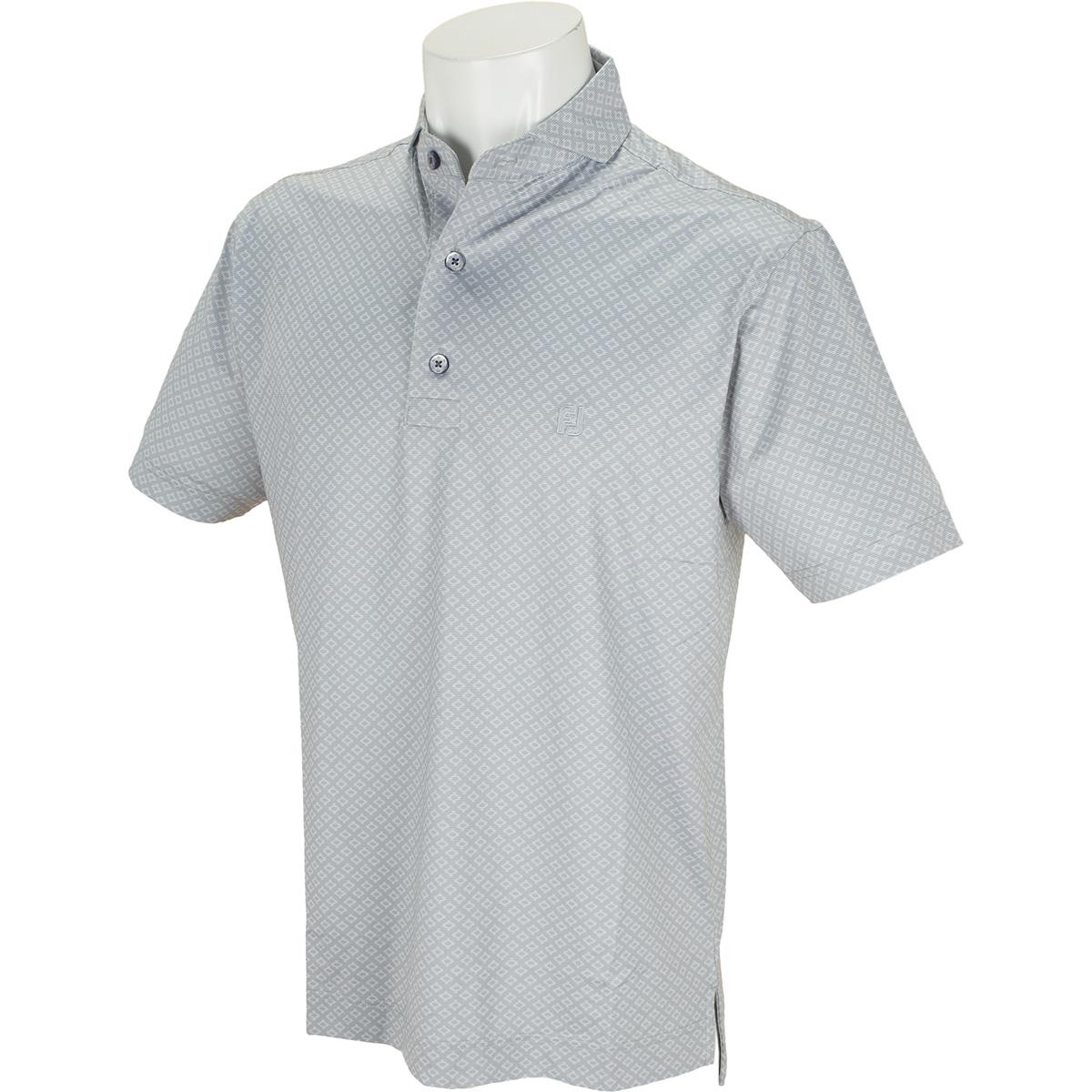 ジオメトリックプリント ライル半袖ポロシャツ