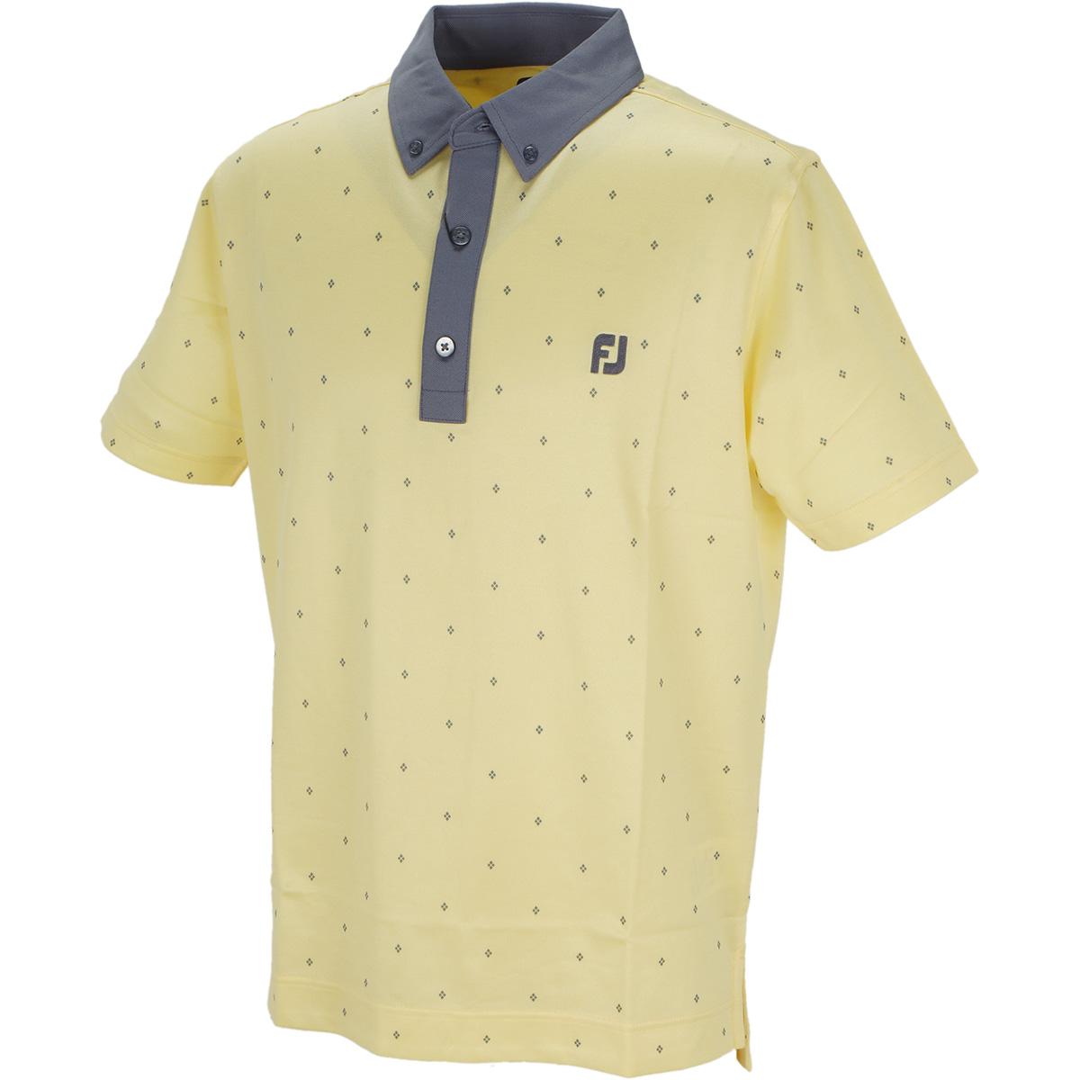 バーズアイ アーガイルプリント 半袖ポロシャツ