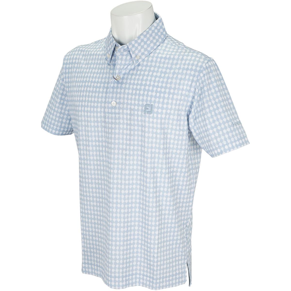 フレイドギンガムプリント ライル半袖ポロシャツ