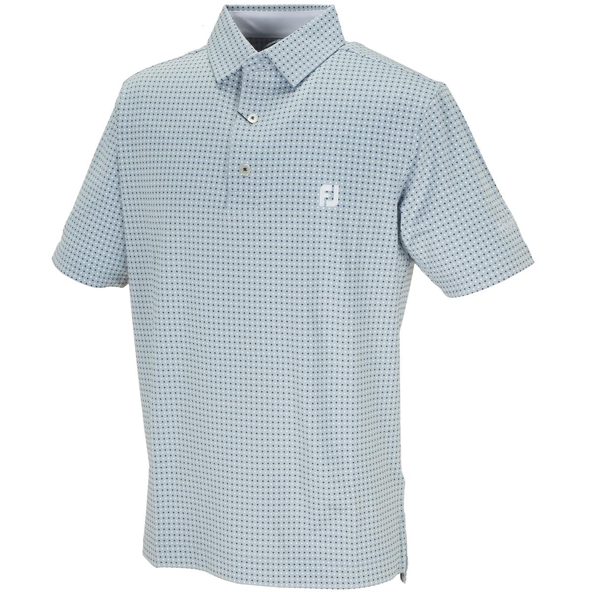 Xプリント ライル半袖ポロシャツ