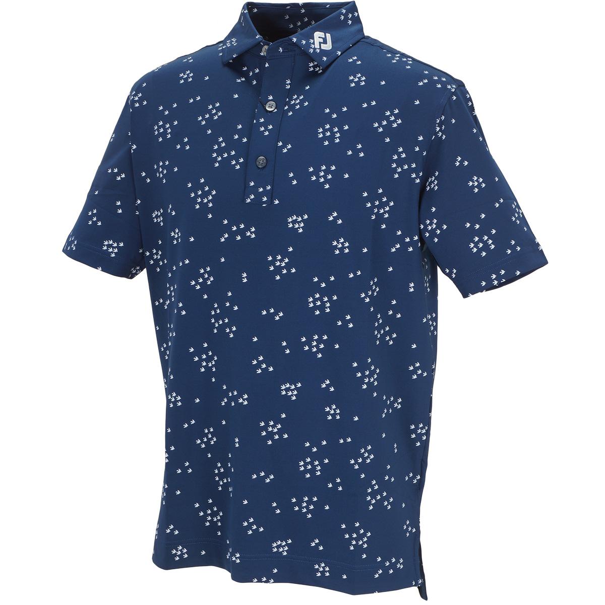 バードフロックプリント ライル半袖ポロシャツ