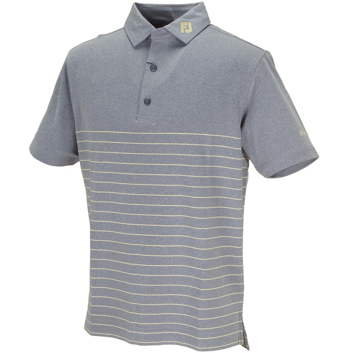 ヘザーストライプ ライル半袖ポロシャツ