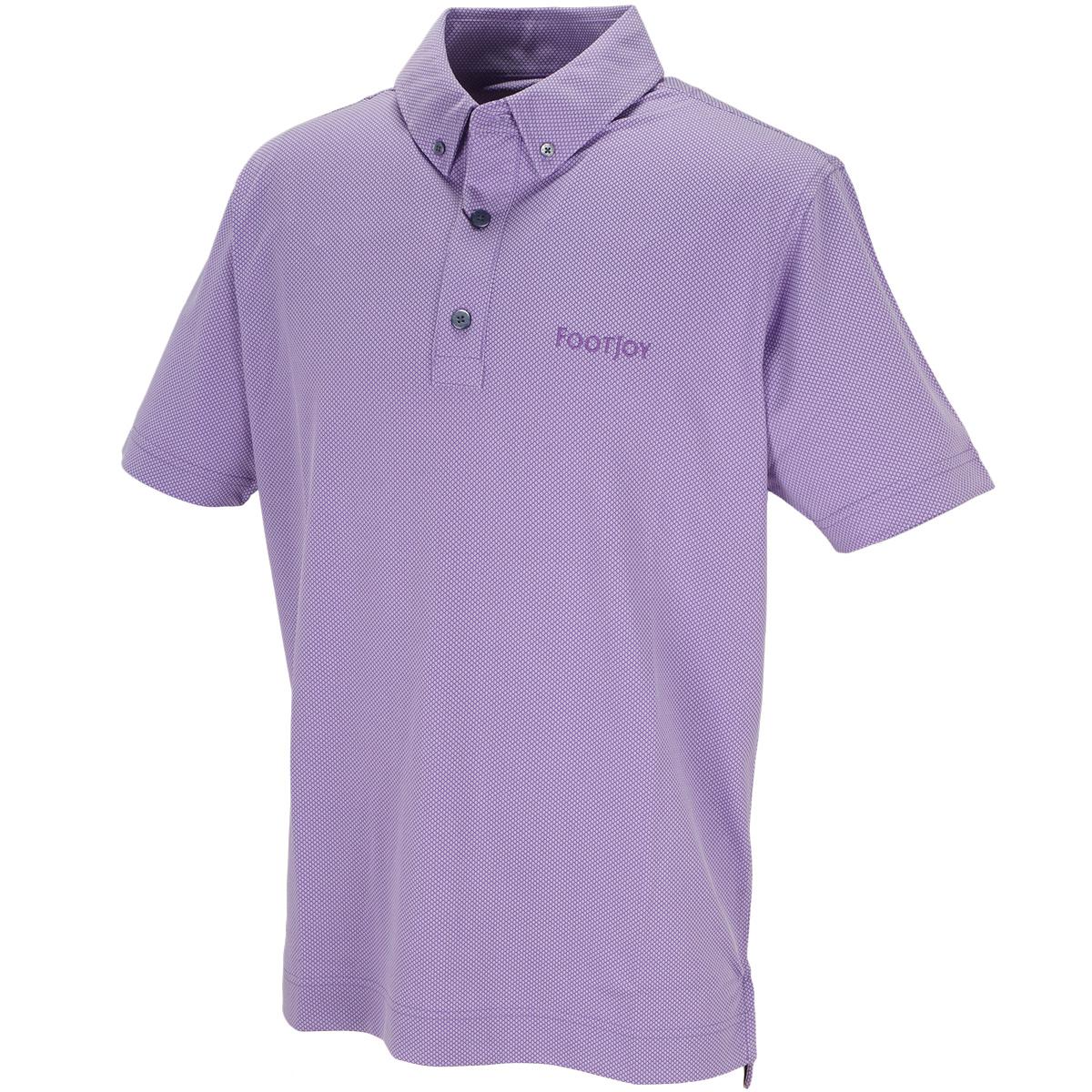 4ドットジャカード ボタンダウン半袖ポロシャツ