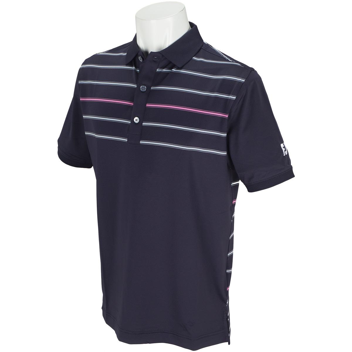 マルチカラーストライプ クーリング半袖ポロシャツ