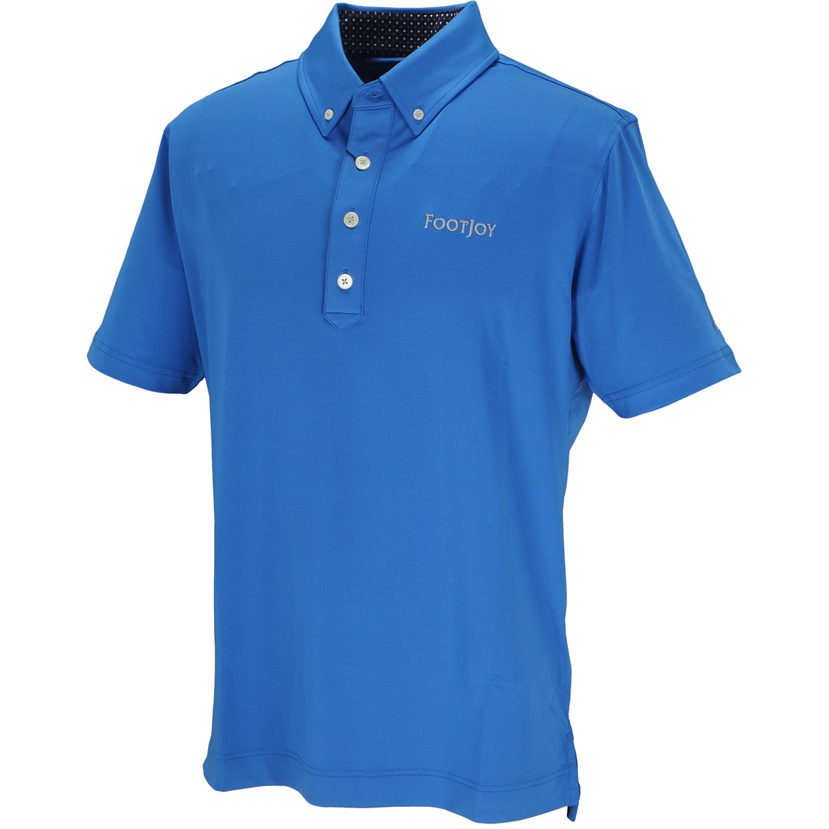 ブロックラインプリント半袖ポロシャツ