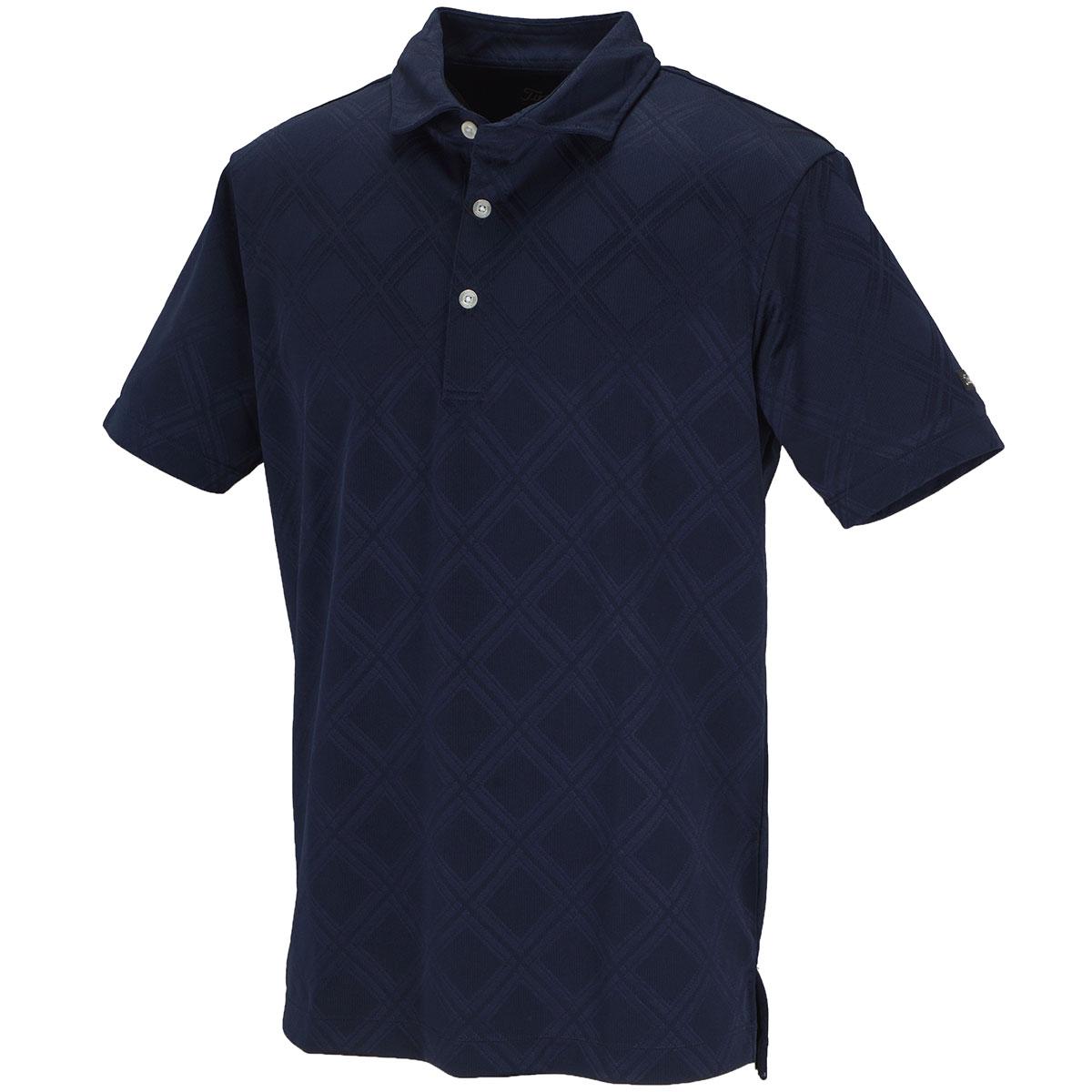 ストレッチ チェック半袖ポロシャツ