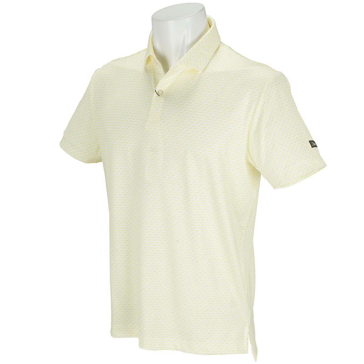 ストレッチスムース プリント半袖ポロシャツ