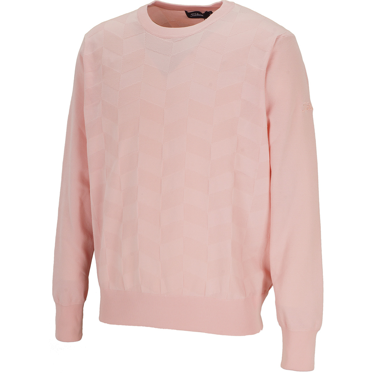 ヘリンボーン クルーネックセーター