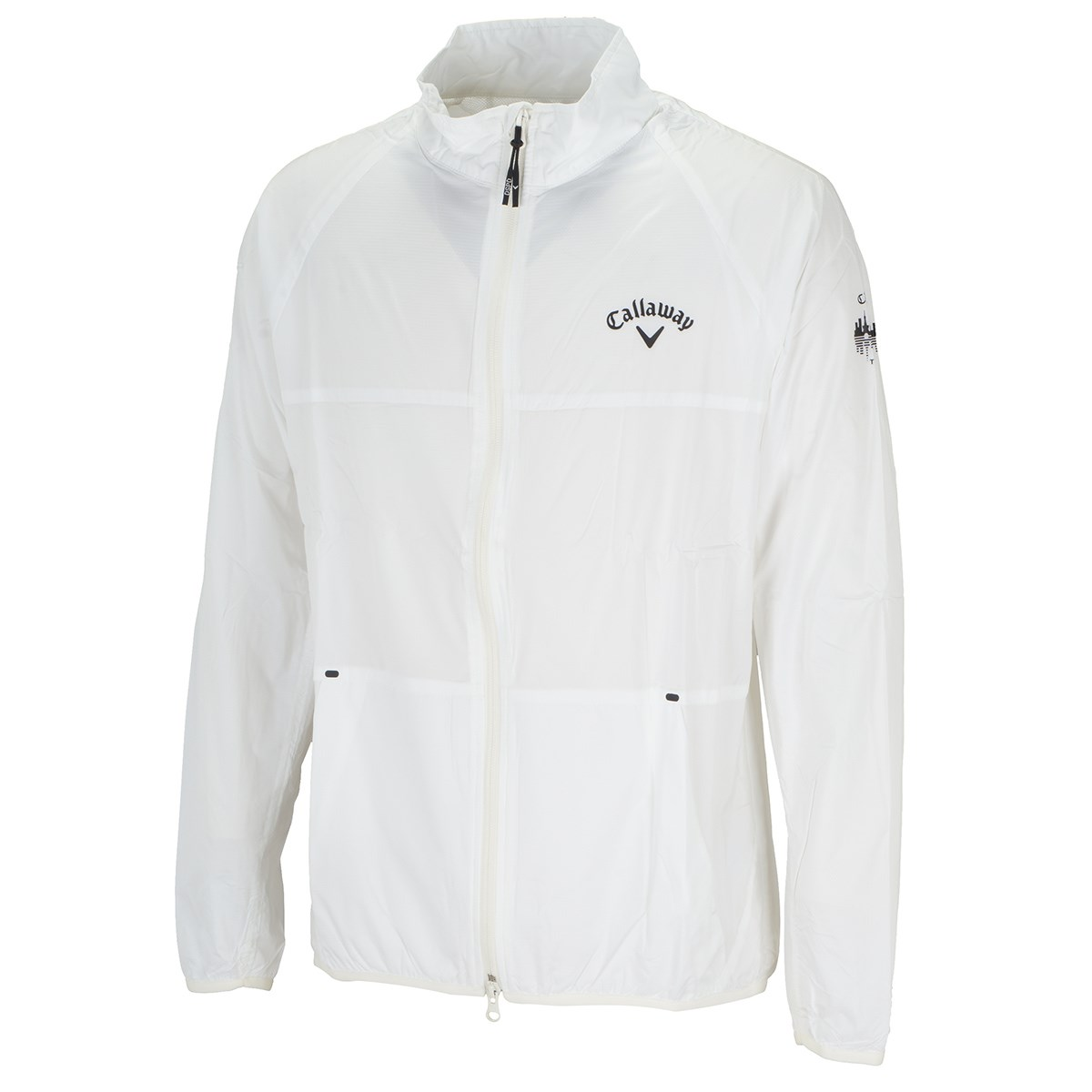 キャロウェイゴルフ Callaway Golf リップストップ 長袖ブルゾン L ホワイト 030