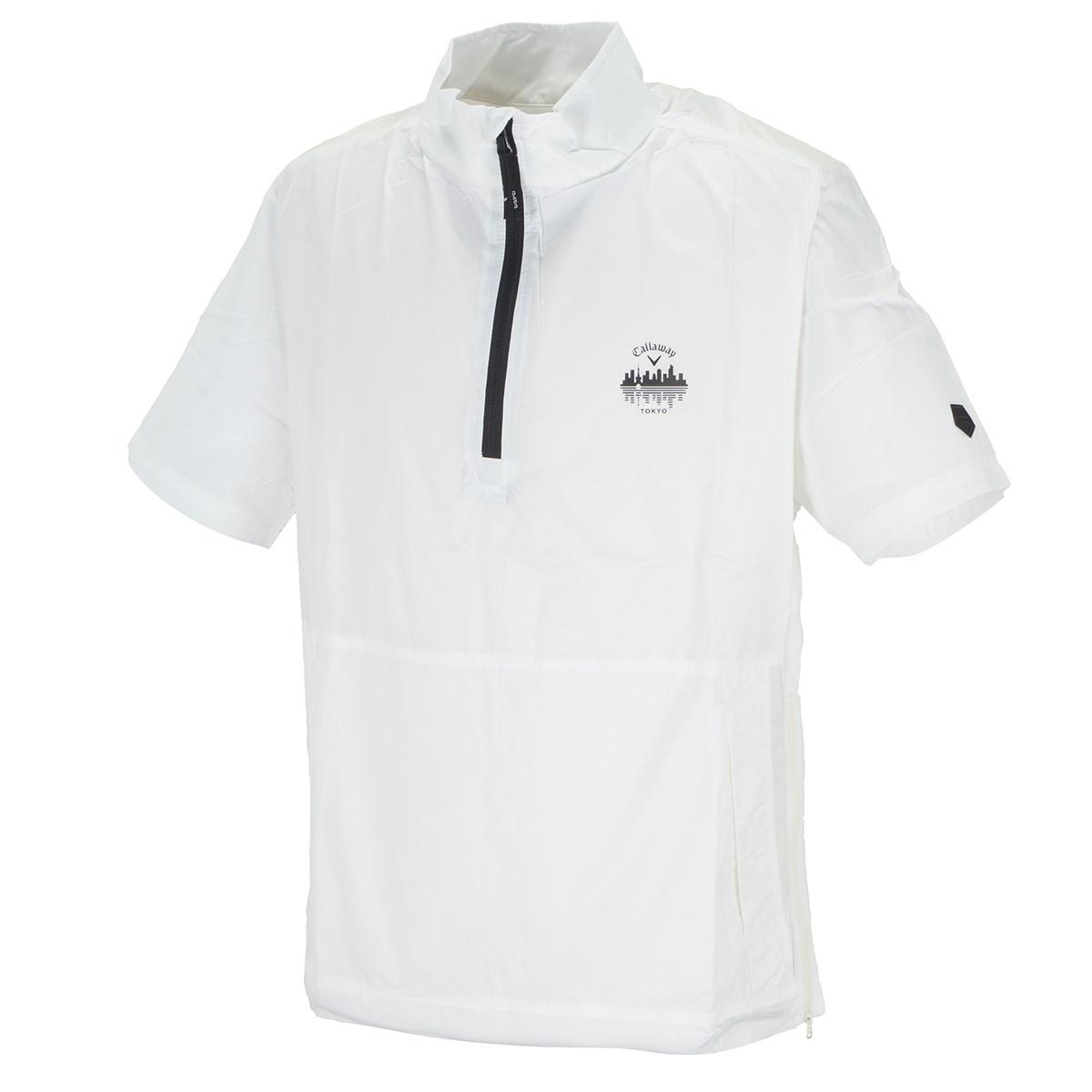 キャロウェイゴルフ Callaway Golf レギュラーシルエット リップストップ 半袖ブルゾン M ホワイト 030