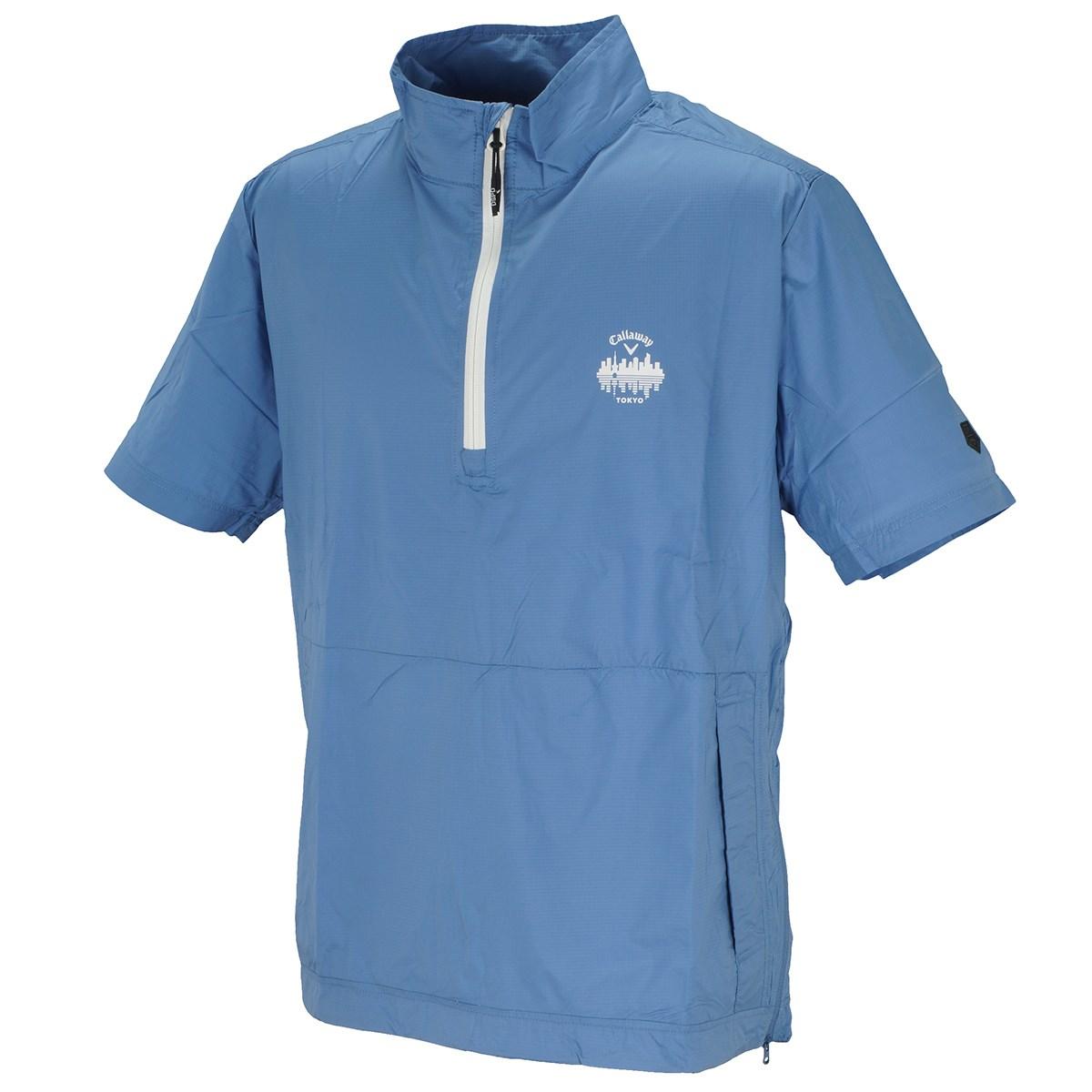 キャロウェイゴルフ Callaway Golf レギュラーシルエット リップストップ 半袖ブルゾン M ブルー 110
