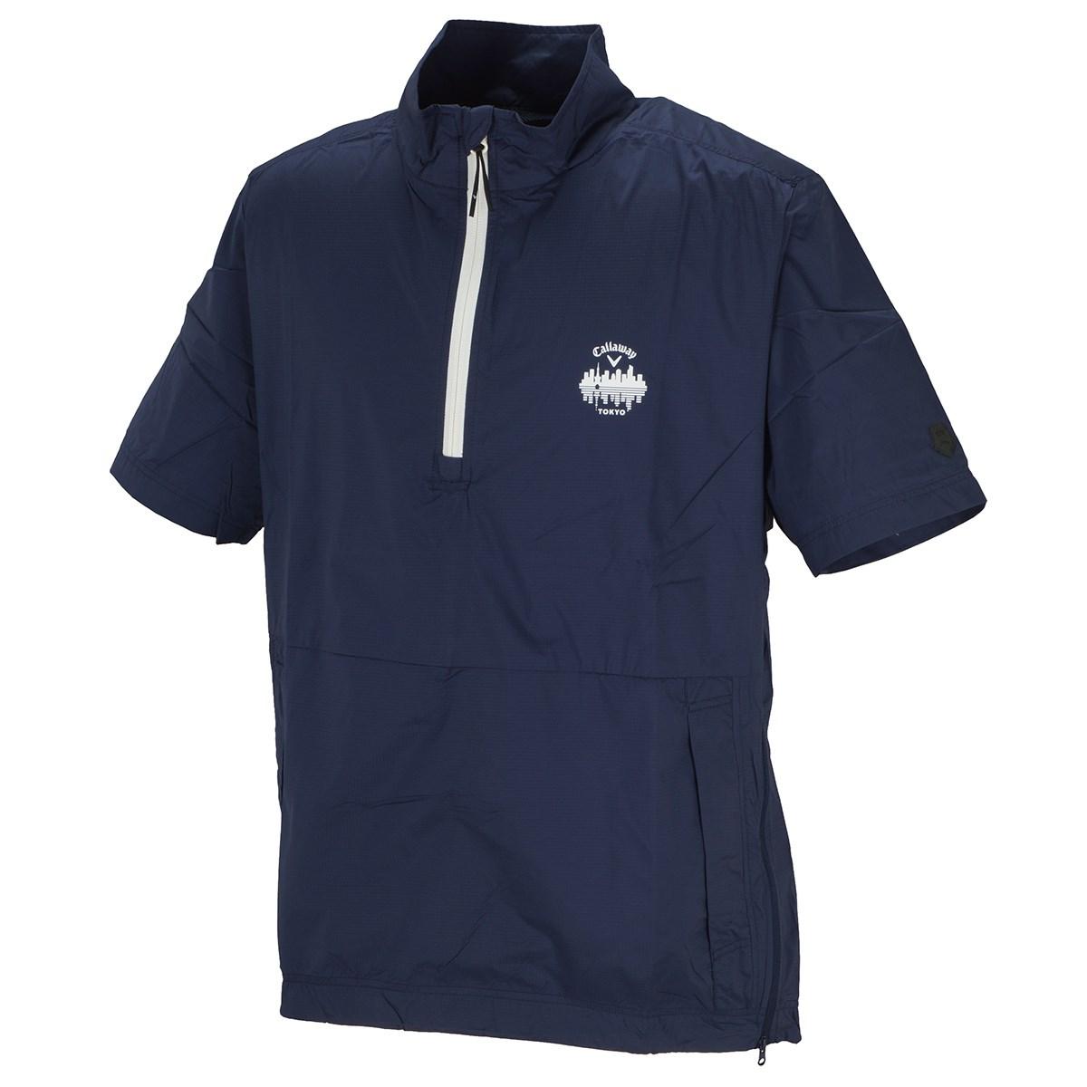 キャロウェイゴルフ Callaway Golf レギュラーシルエット リップストップ 半袖ブルゾン M ネイビー 120