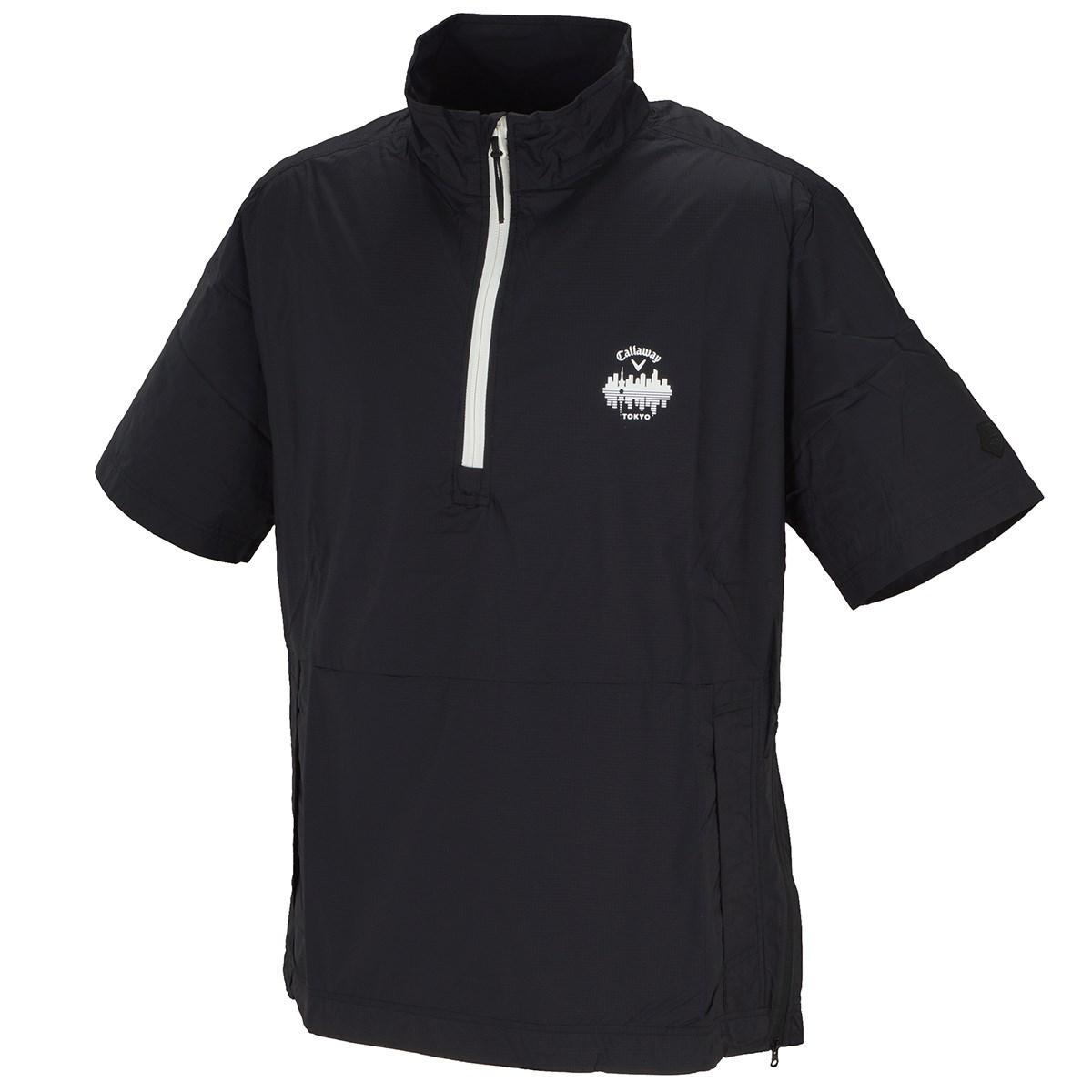 キャロウェイゴルフ Callaway Golf レギュラーシルエット リップストップ 半袖ブルゾン M ブラック 010