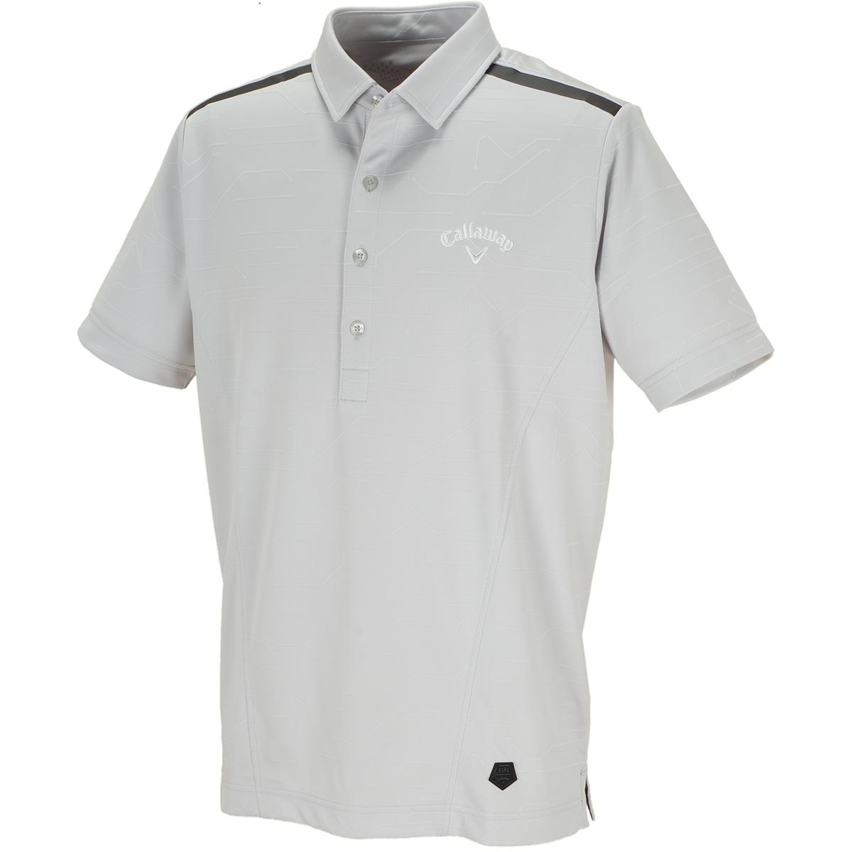 AI柄 ジャカード 半袖ポロシャツ