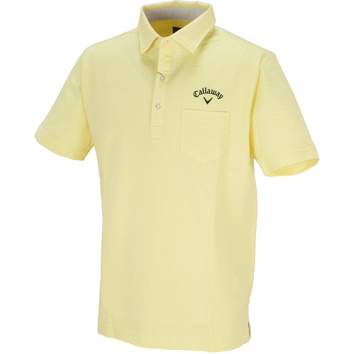 キャロウェイゴルフ Callaway Golf サッカーストライプ 半袖ポロシャツ M イエロー 060