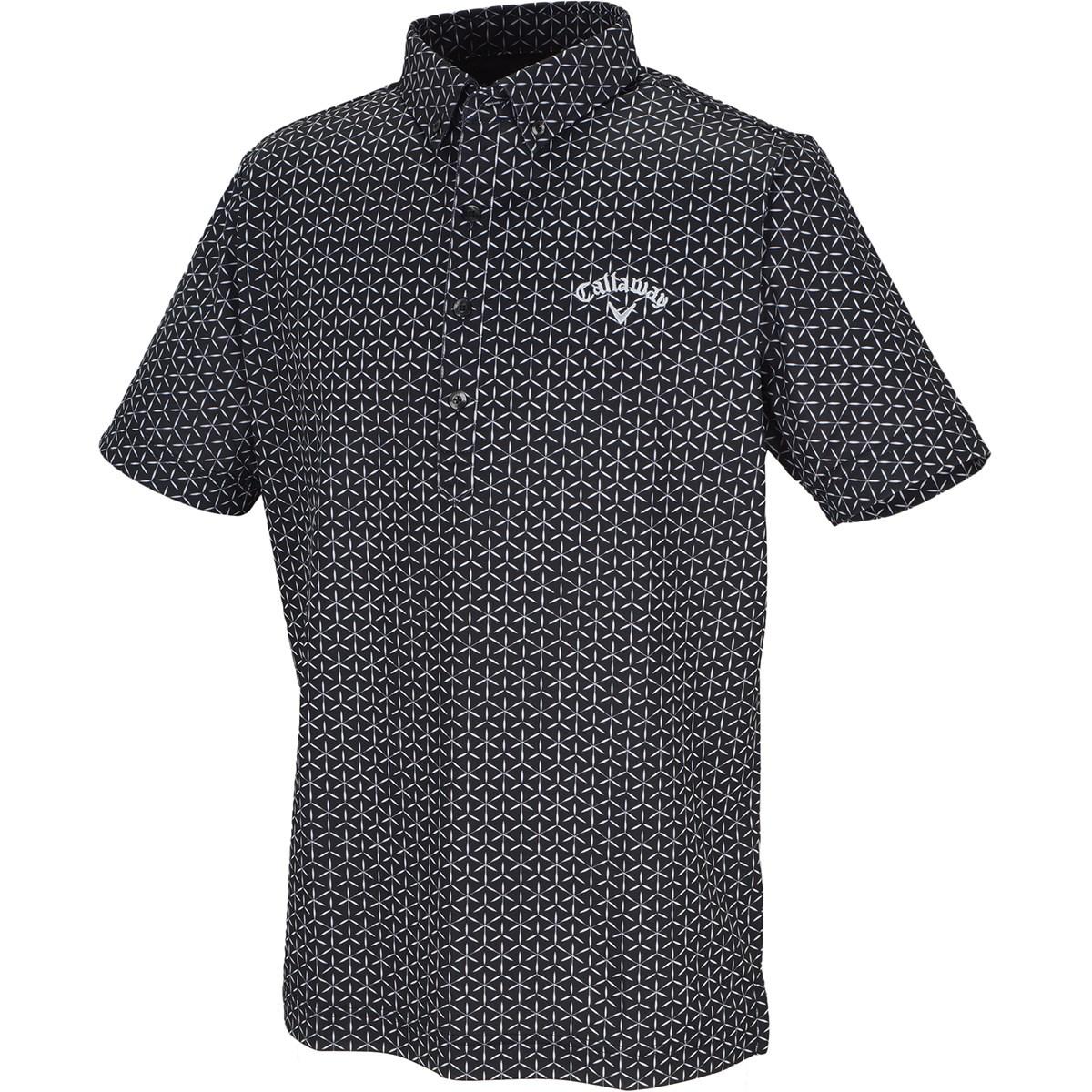 キャロウェイゴルフ(Callaway Golf) 切子プリント クールドライ ボタンダウン半袖ポロシャツ