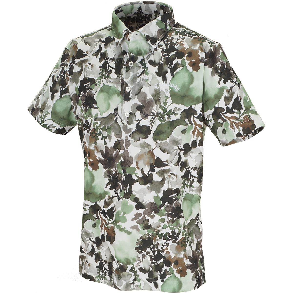 水彩画プリント クールドライ 半袖ポロシャツ