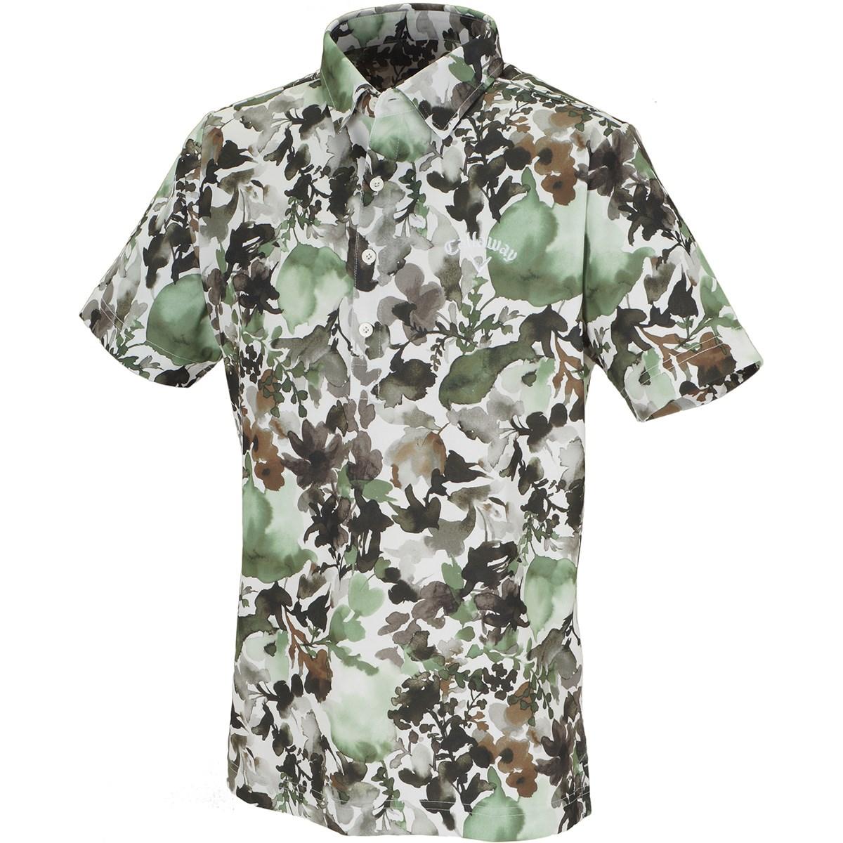 キャロウェイゴルフ(Callaway Golf) 水彩画プリント クールドライ 半袖ポロシャツ