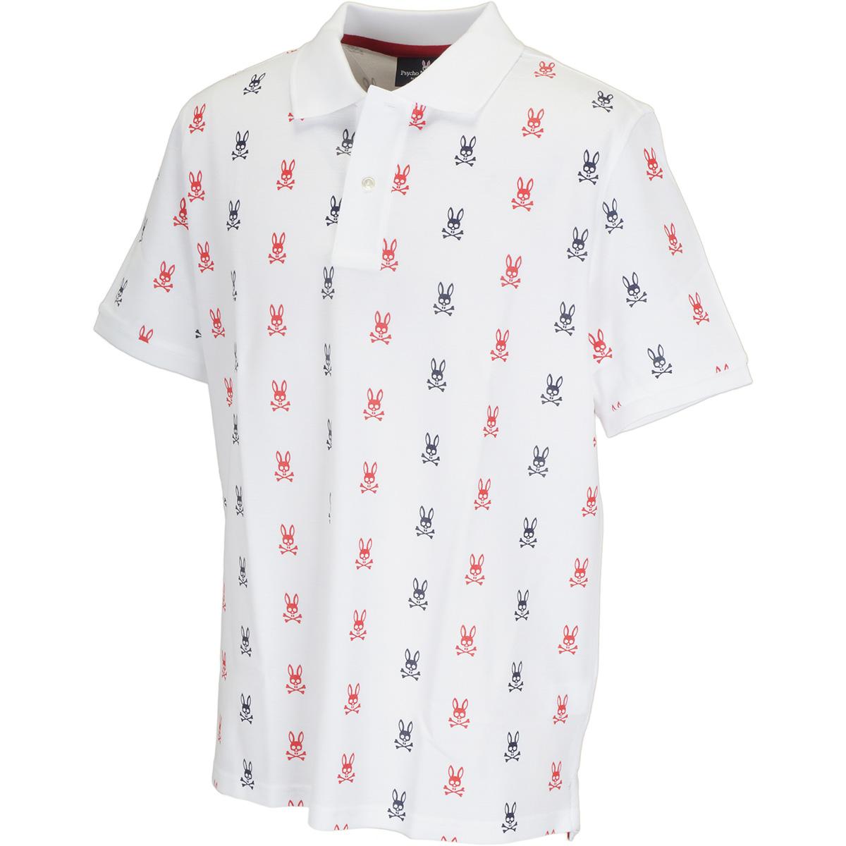 ロゴパターンプリント 半袖ポロシャツ