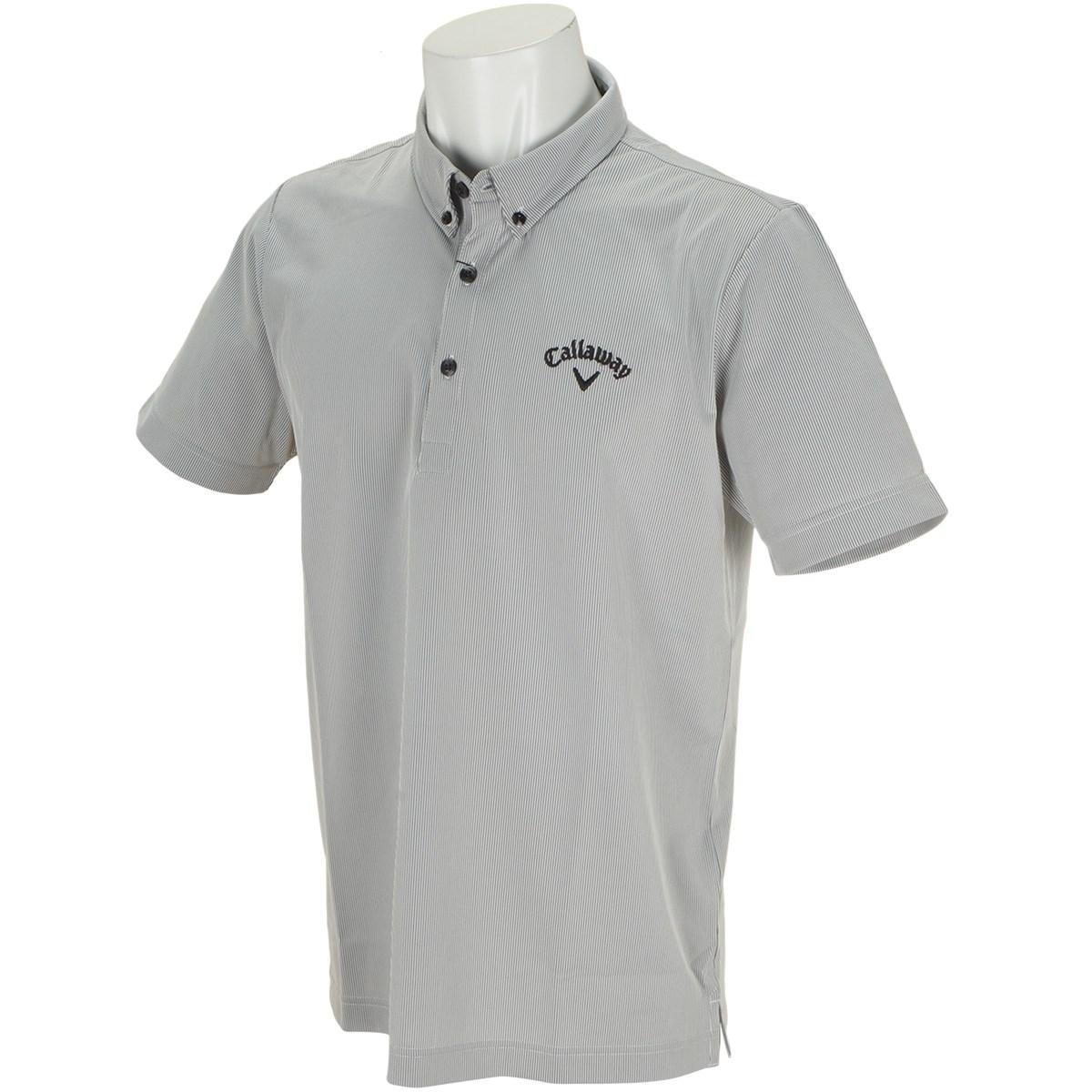 キャロウェイゴルフ Callaway Golf ボタンダウン コードレーン カラー半袖ポロシャツ M ブラック 010