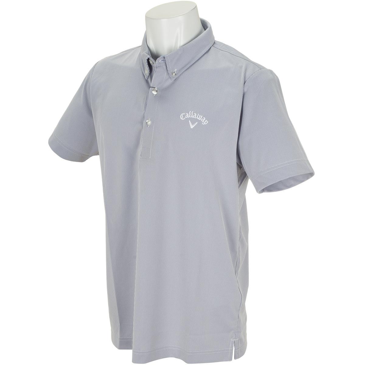 ボタンダウン コードレーン カラー半袖ポロシャツ