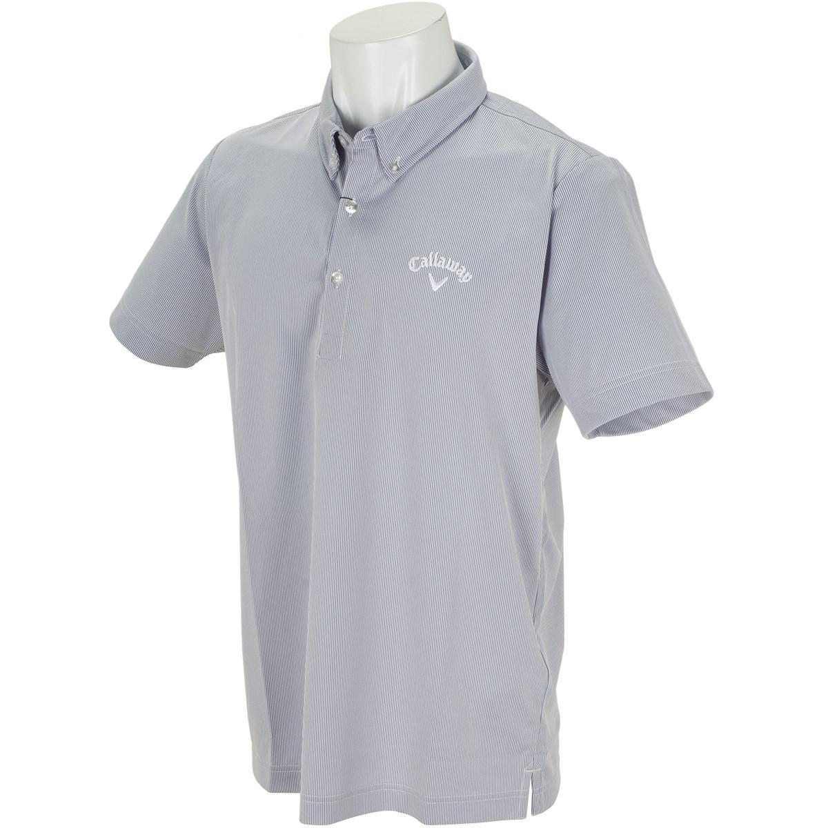 キャロウェイゴルフ Callaway Golf ボタンダウン コードレーン カラー半袖ポロシャツ M ブルー 110