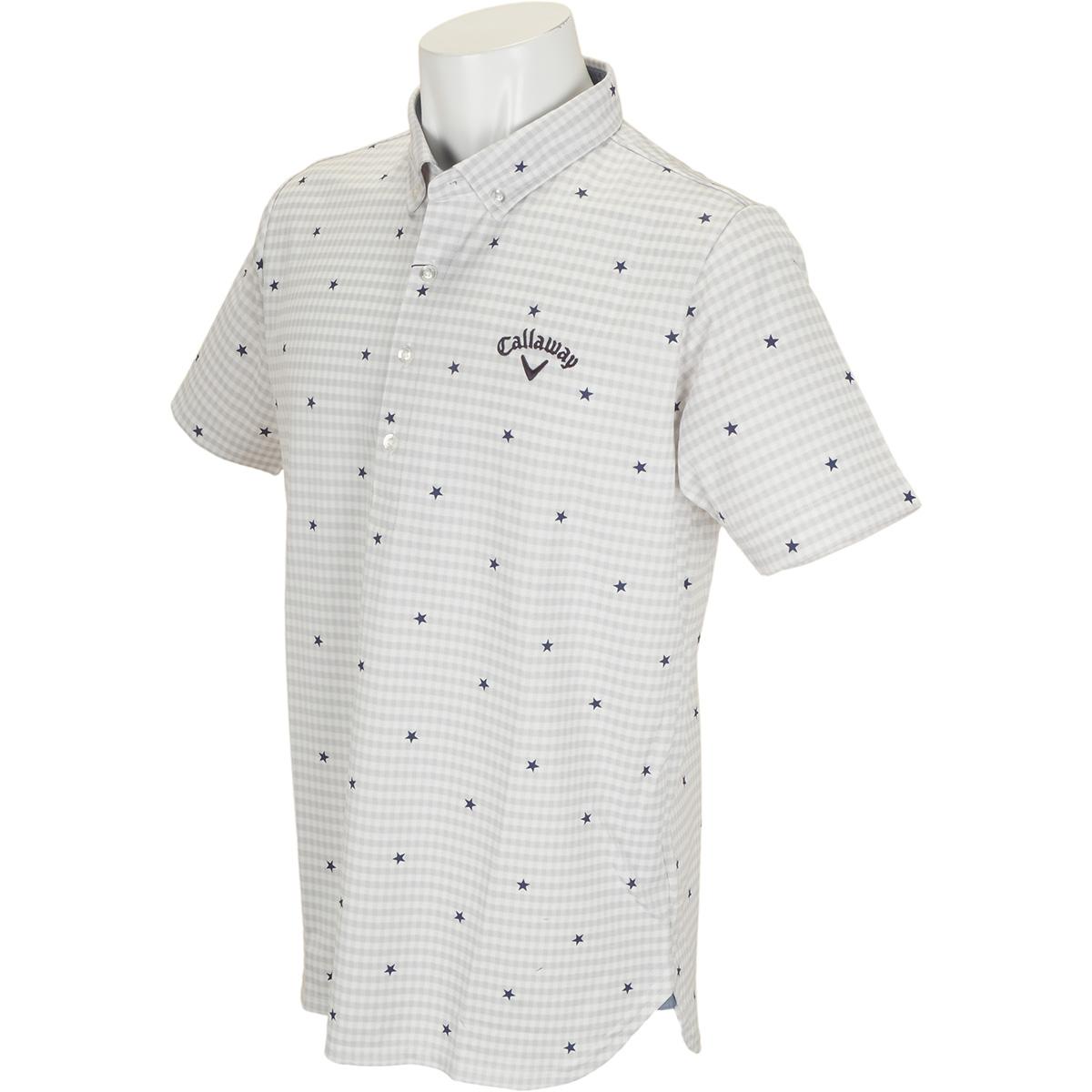 ボタンダウン -2度COOLギンガム カラー半袖ポロシャツ