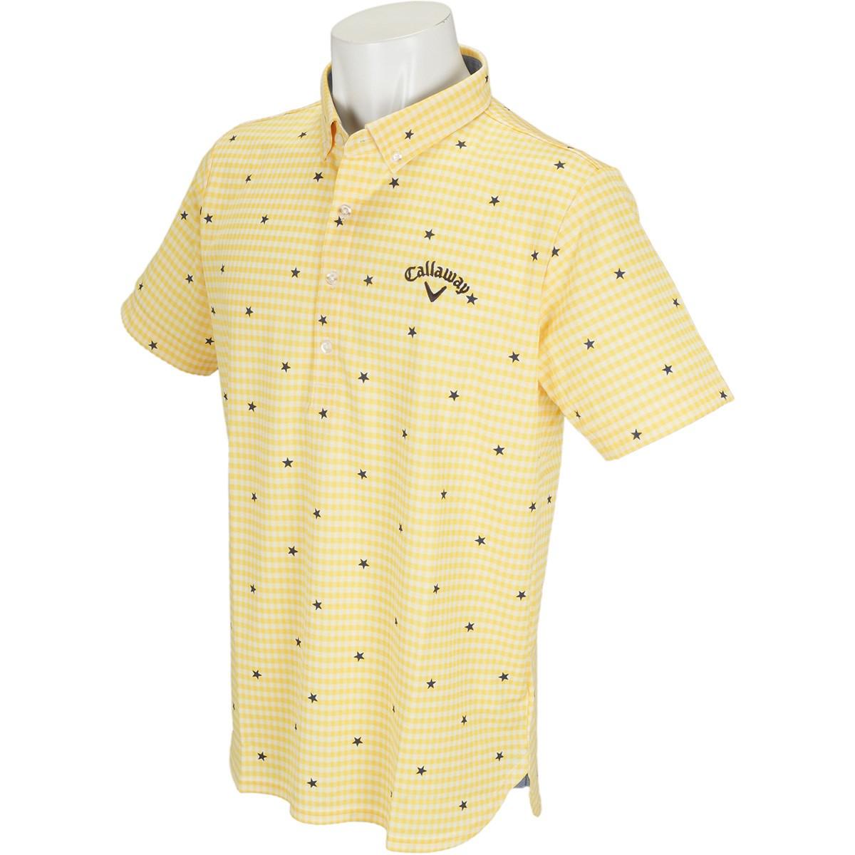 キャロウェイゴルフ(Callaway Golf) ボタンダウン -2度COOLギンガム カラー半袖ポロシャツ