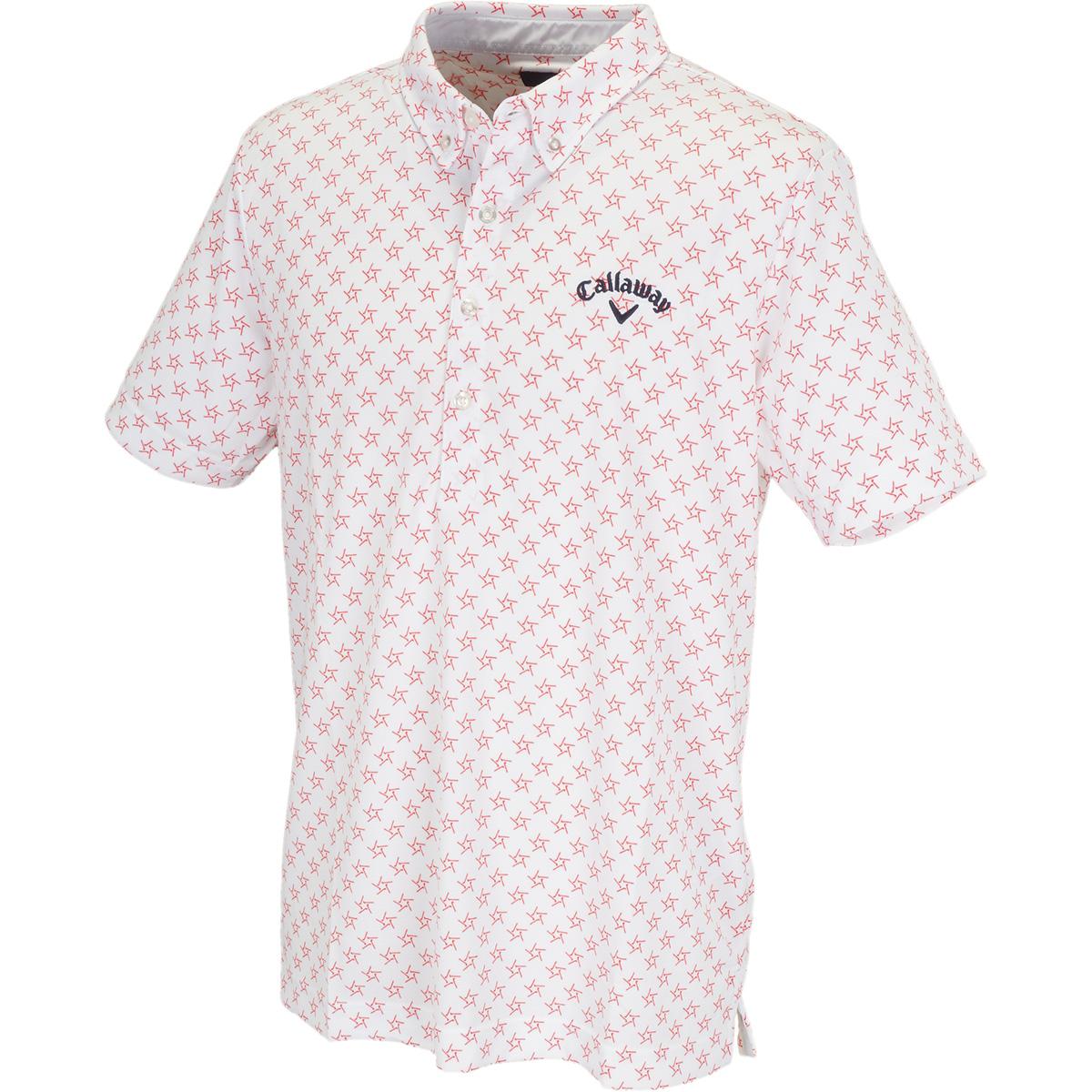 ボタンダウン 肌ドライPPクラブスター カラー半袖ポロシャツ