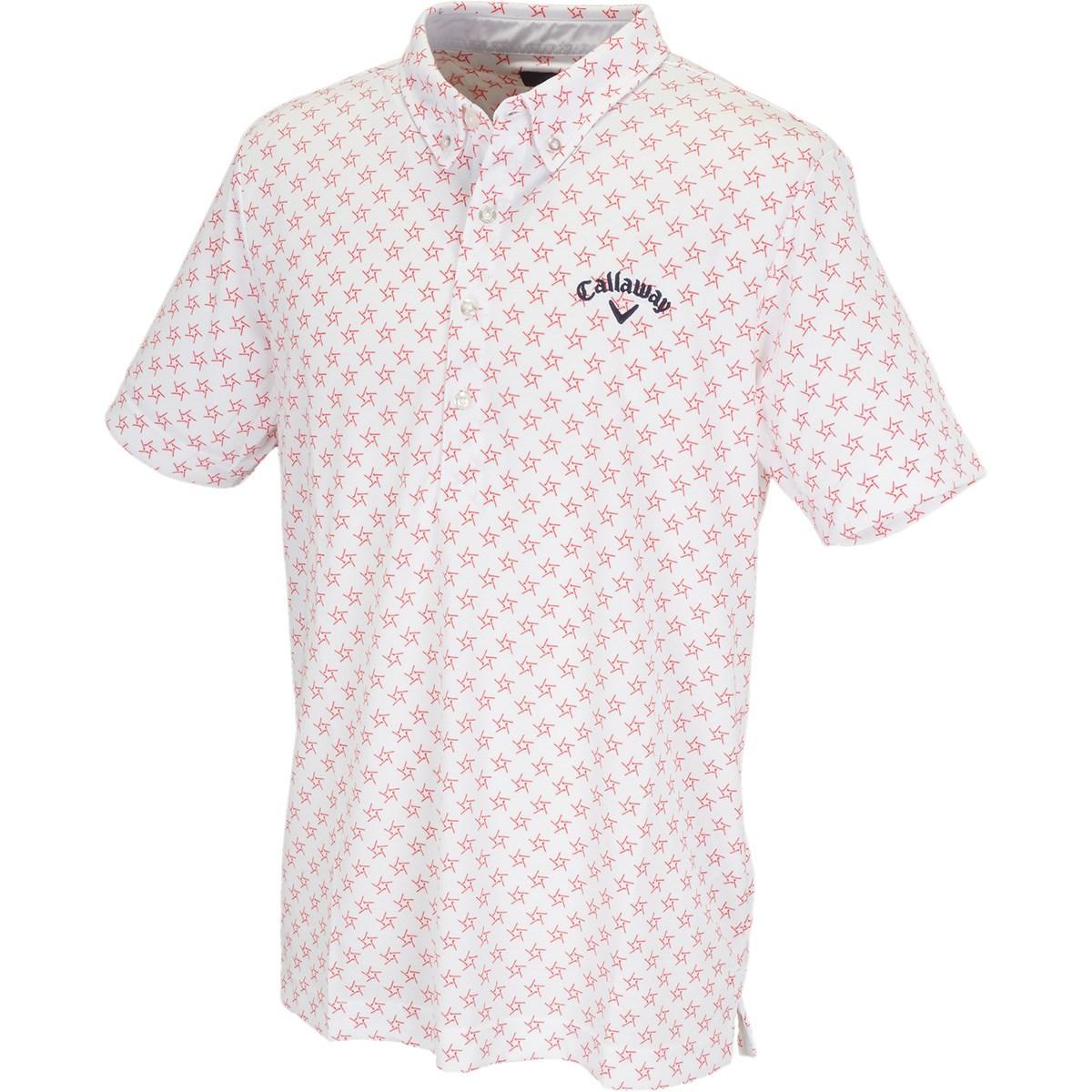 キャロウェイゴルフ(Callaway Golf) ボタンダウン 肌ドライPPクラブスター カラー半袖ポロシャツ