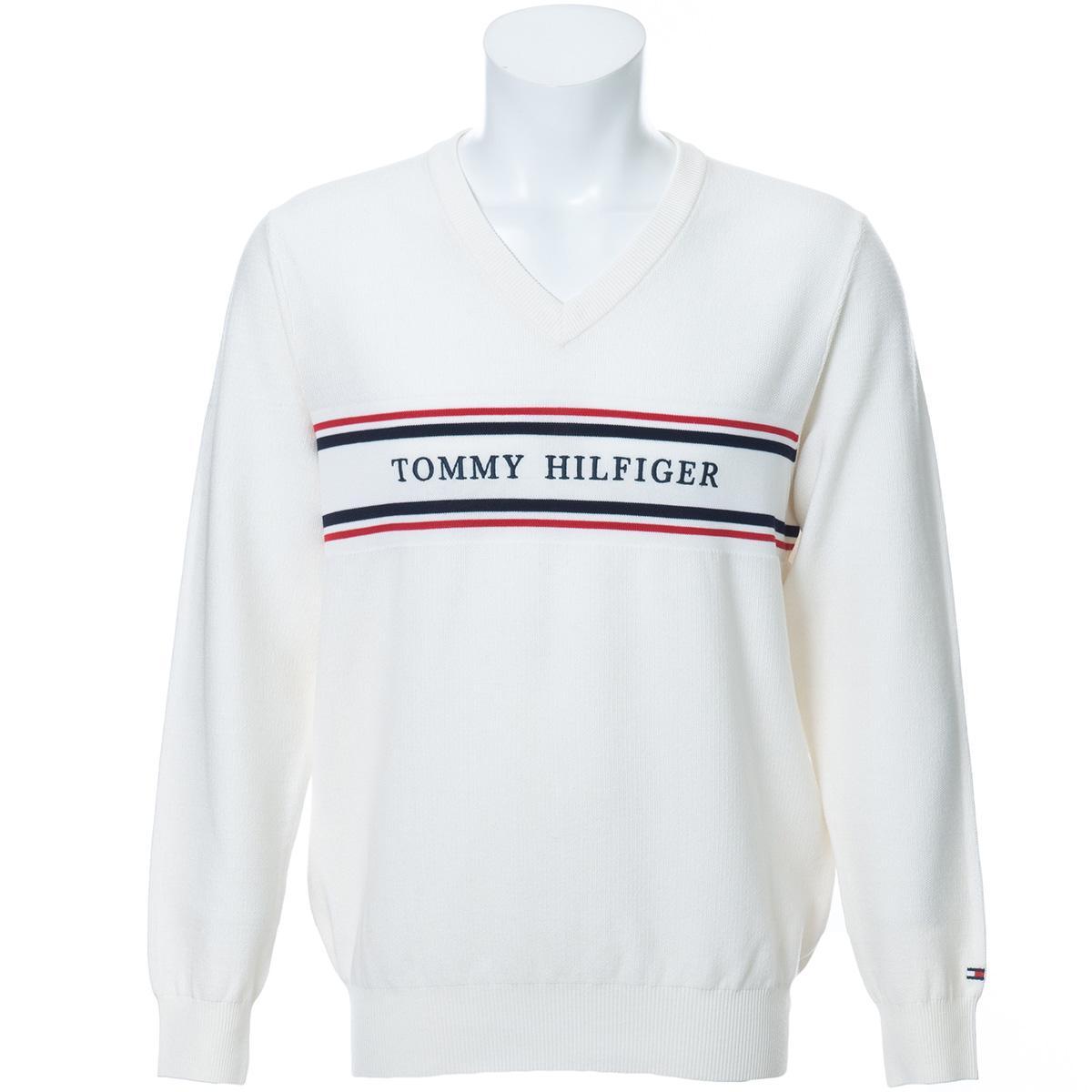 CLASSIC ロゴ メッシュ Vネックセーター