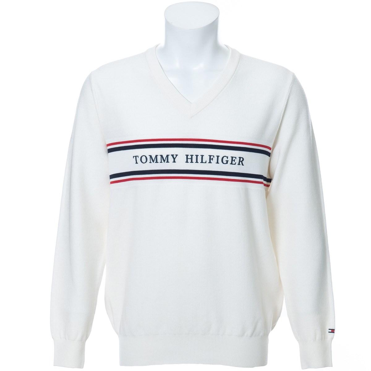 トミーヒルフィガー(Tommy Hilfiger) CLASSIC ロゴ メッシュ Vネックセーター