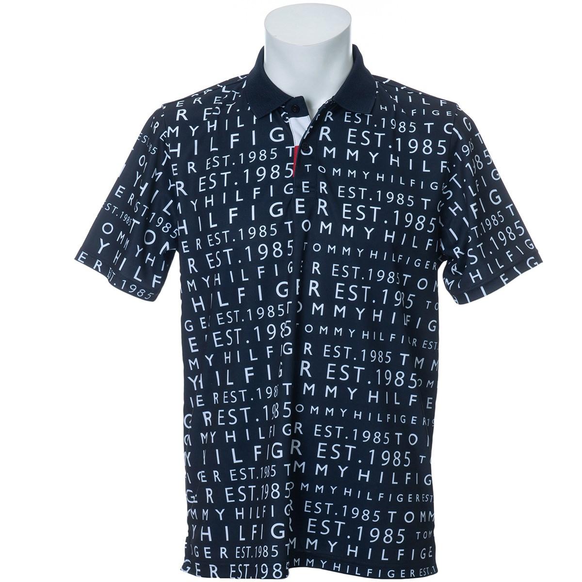 トミーヒルフィガー(Tommy Hilfiger) ロゴ プリント 半袖ポロシャツ