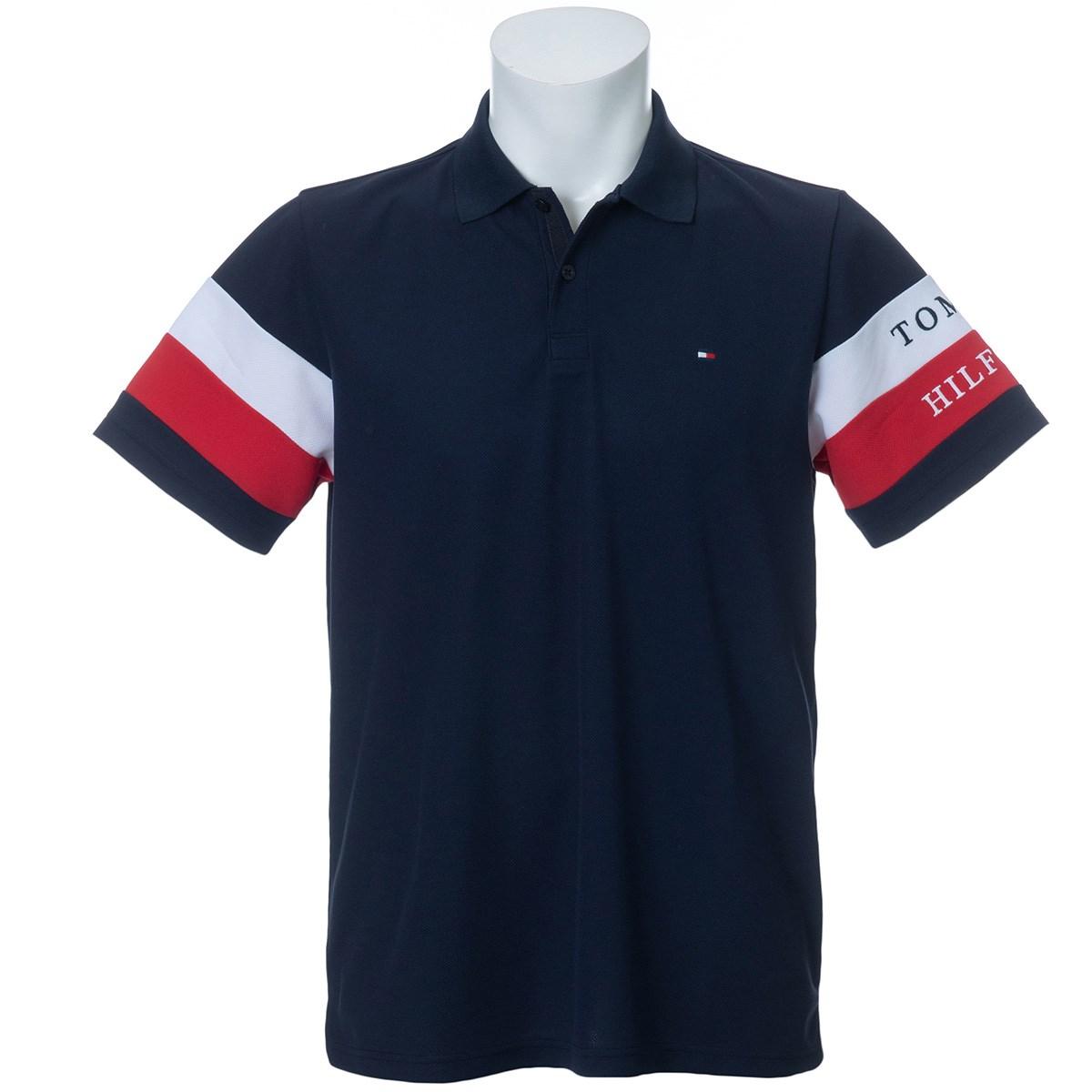 トミーヒルフィガー(Tommy Hilfiger) SIGNATURE ストライプスリーブ 半袖ポロシャツ