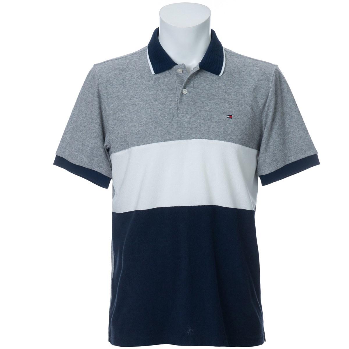 トミー ヒルフィガー ゴルフ TOMMY HILFIGER GOLF BLOCKING TERRY 半袖ポロシャツ M グレー 19