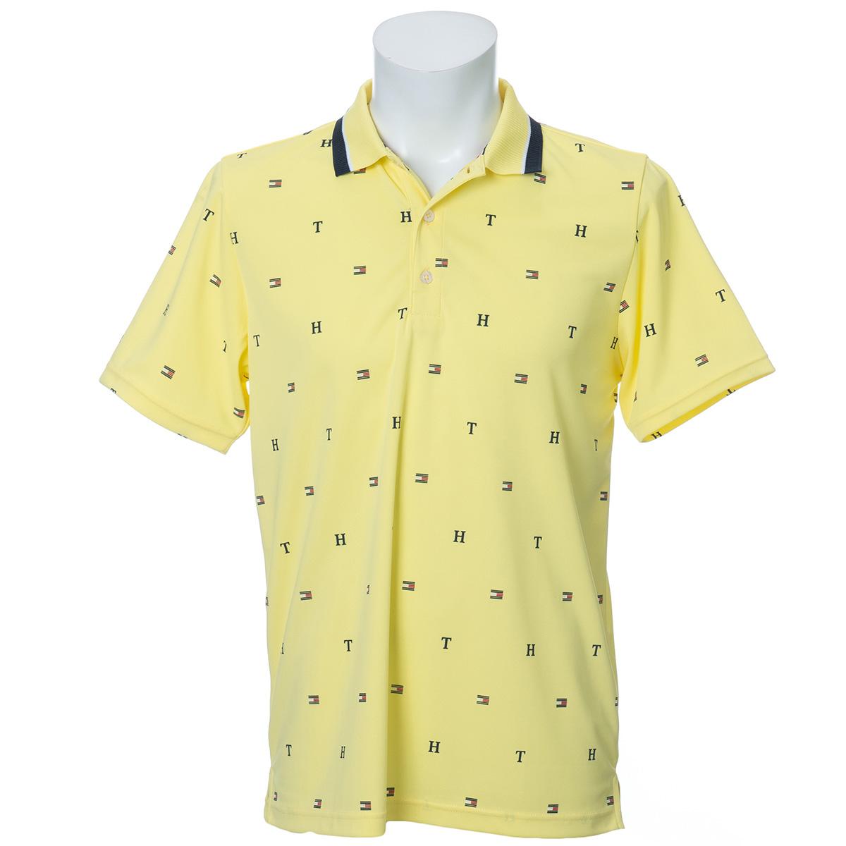 TH&FLAG モノグラム 半袖ポロシャツ